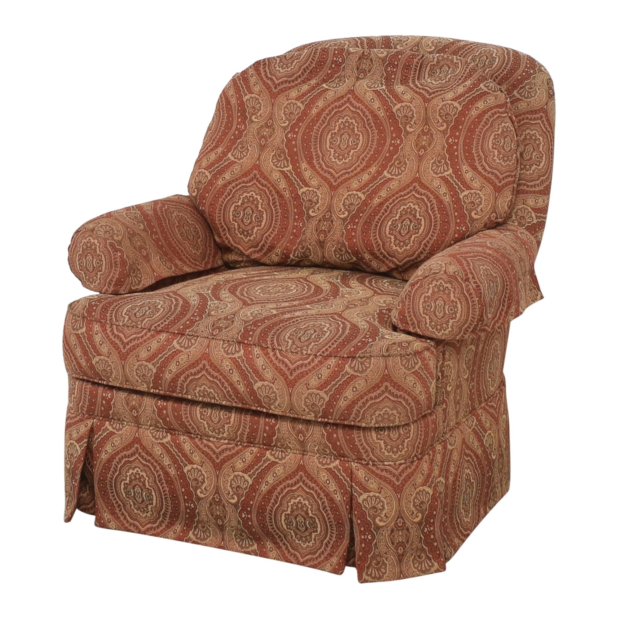 Ethan Allen Ethan Allen Swivel Chair with Ottoman nj