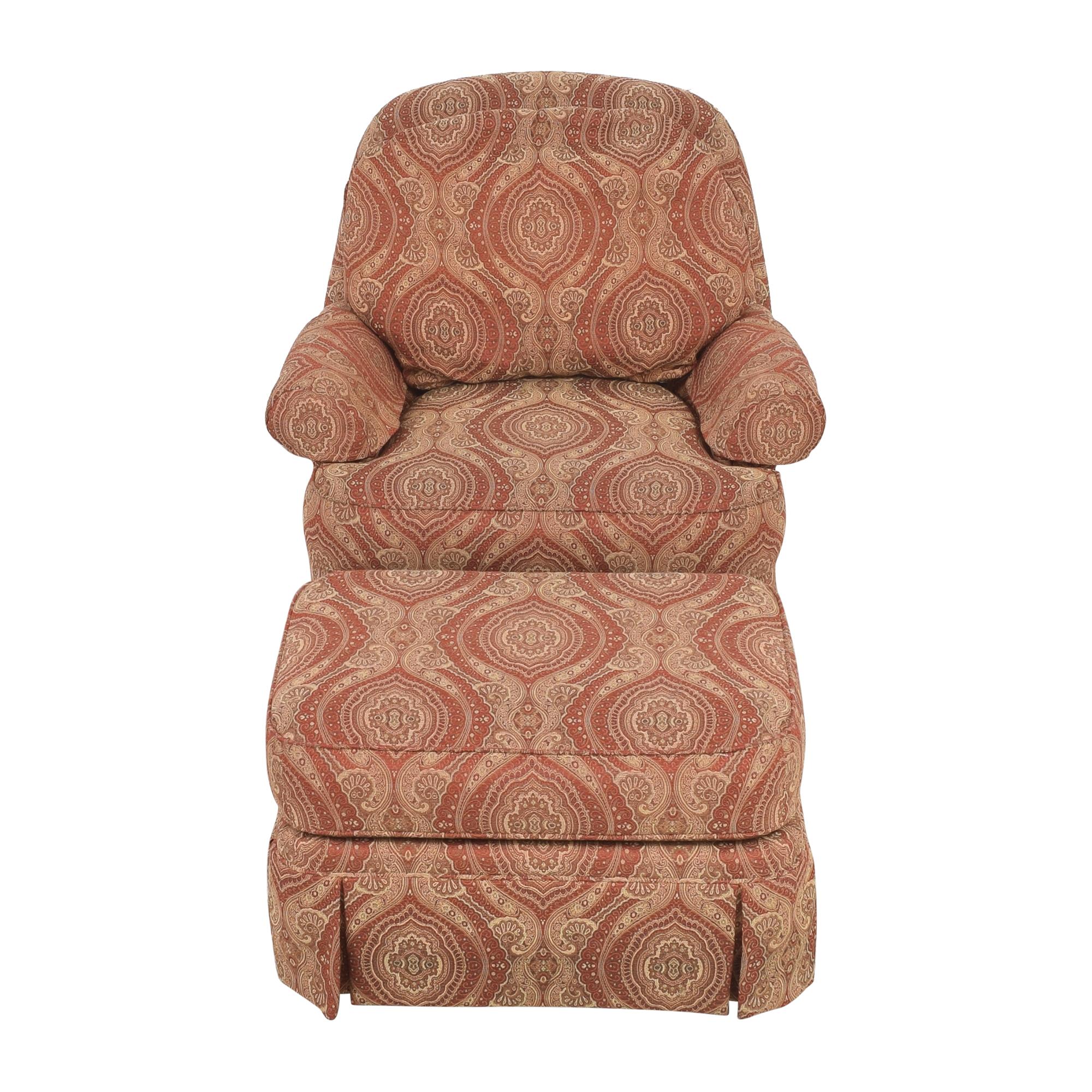 shop Ethan Allen Ethan Allen Swivel Chair with Ottoman online