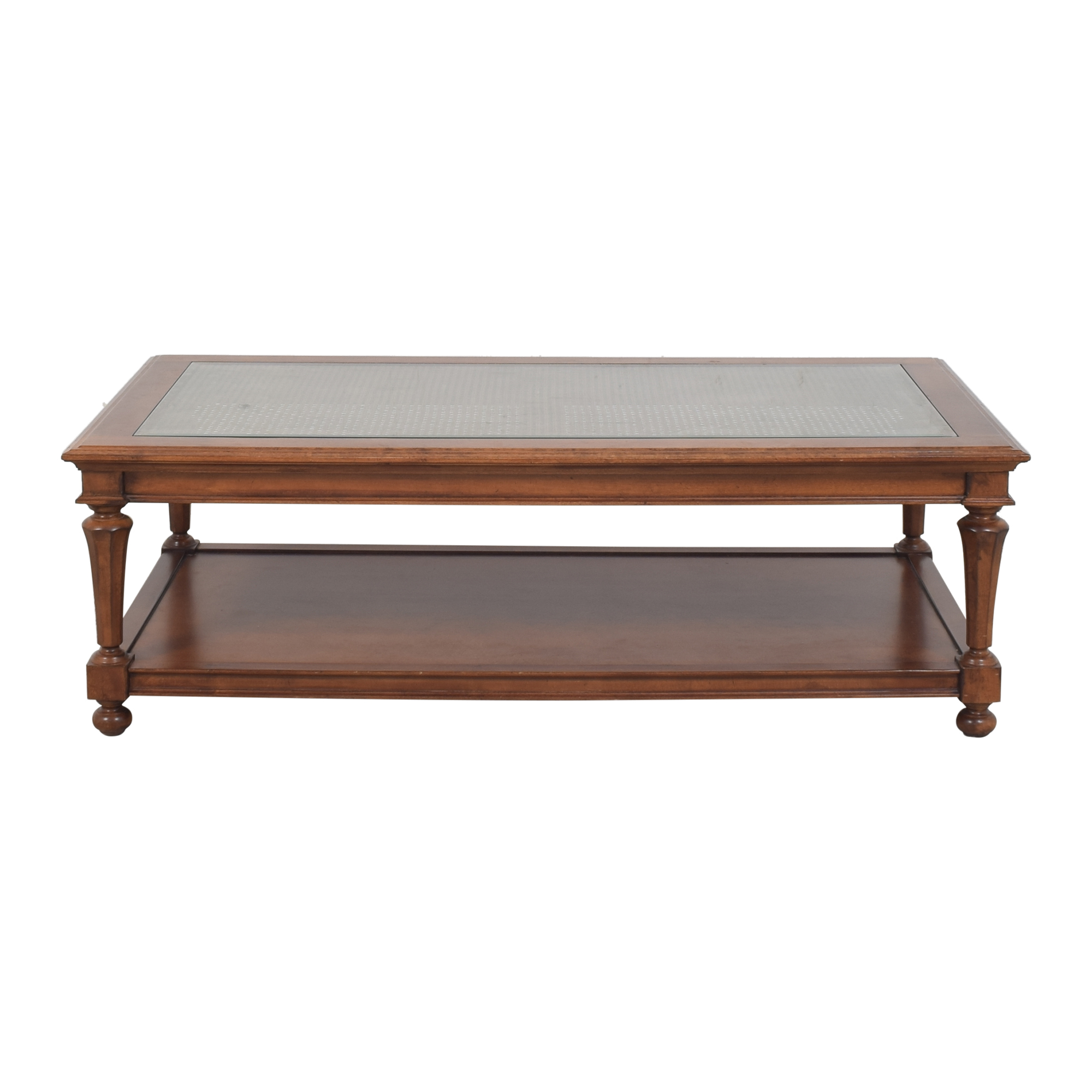 Tier ed Coffee Table with Glass Top pa