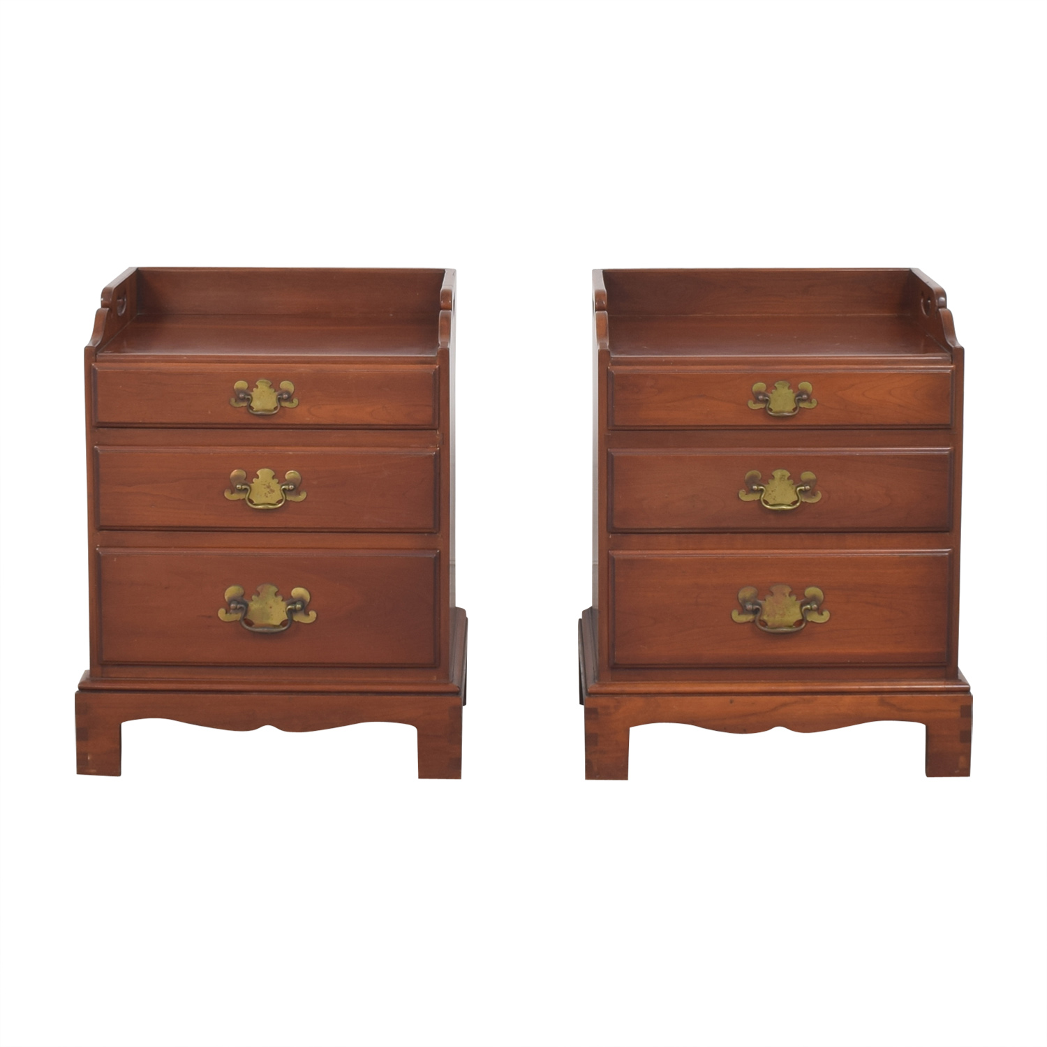 Tray Top Nightstands brown