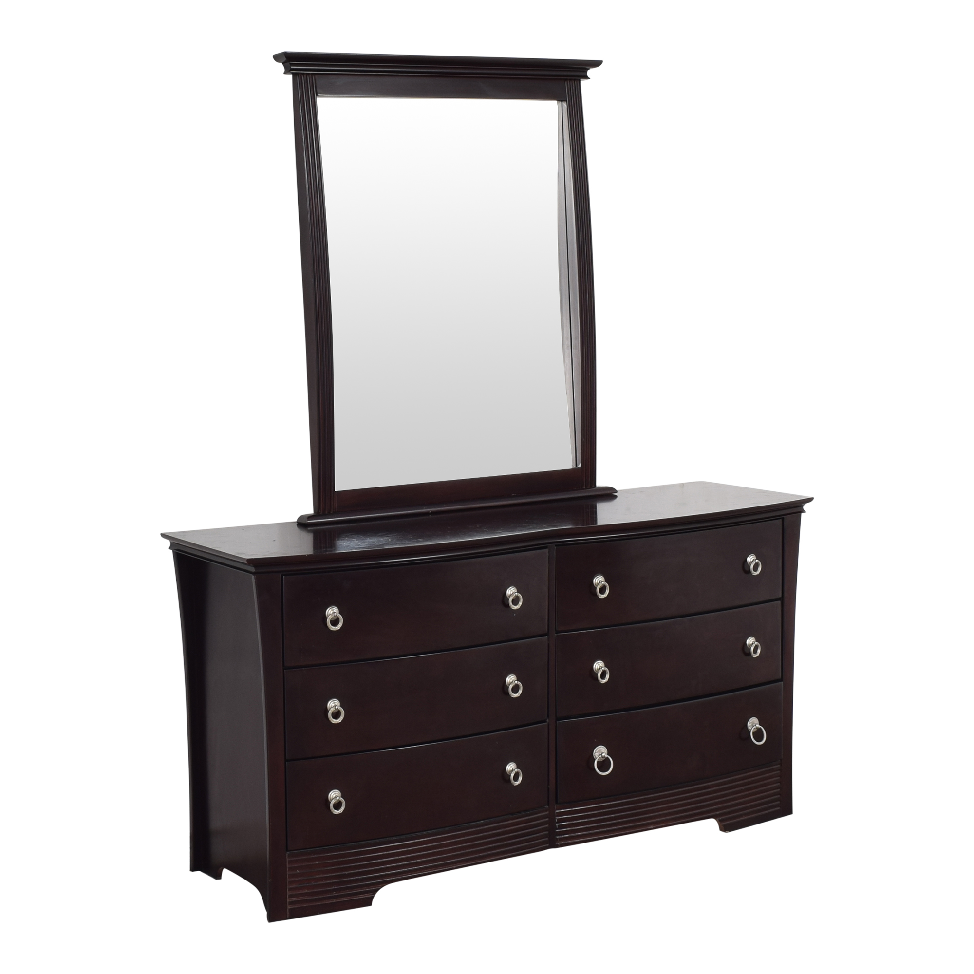 shop Six Drawer Double Dresser with Mirror