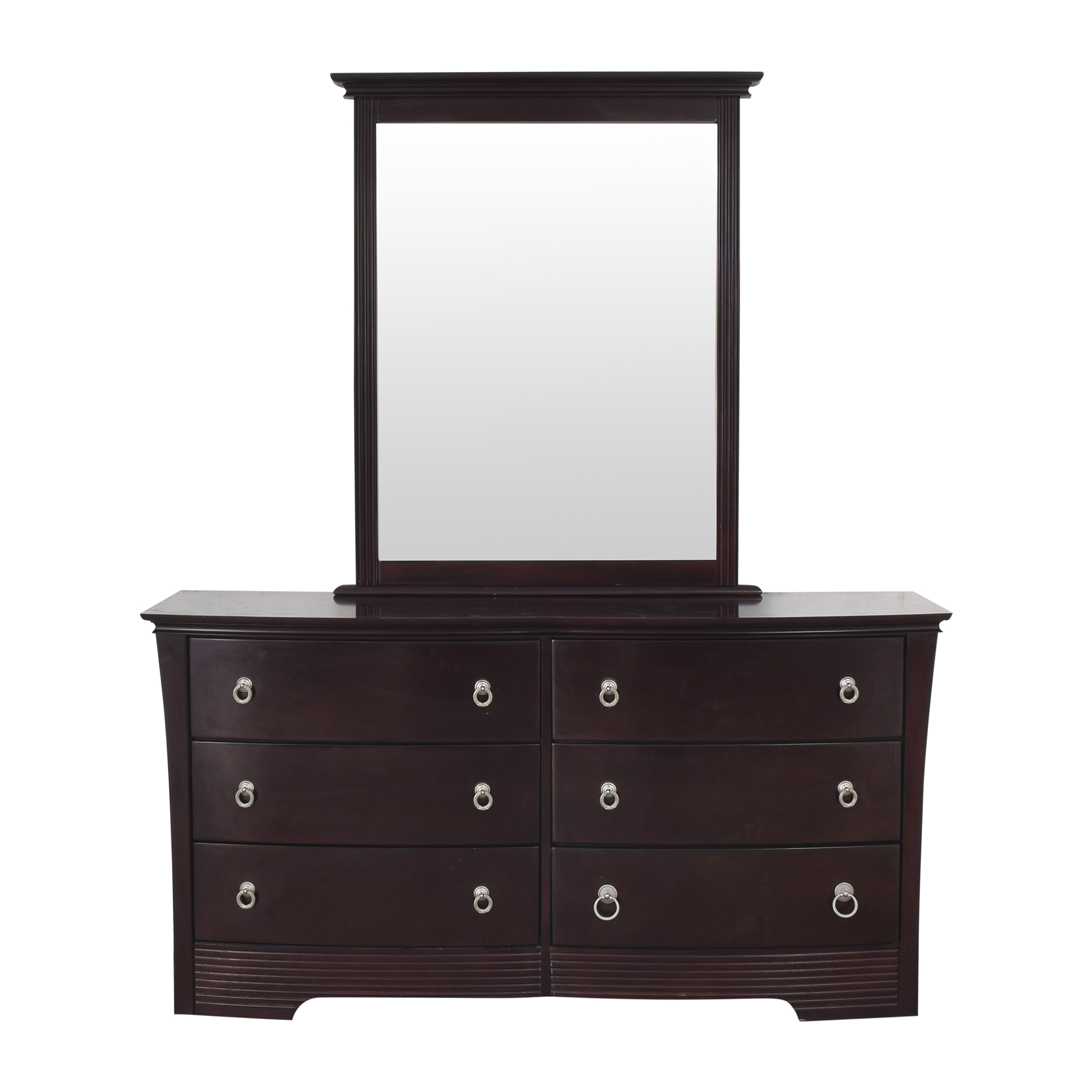 Six Drawer Double Dresser with Mirror  dimensions