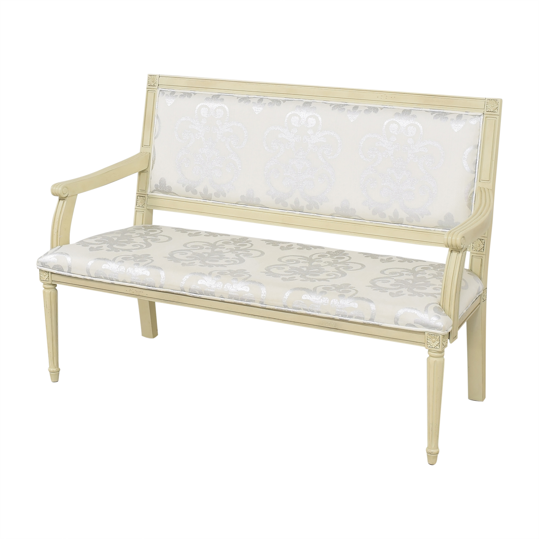 buy One Kings Lane Cushioned Bench One Kings Lane Chairs