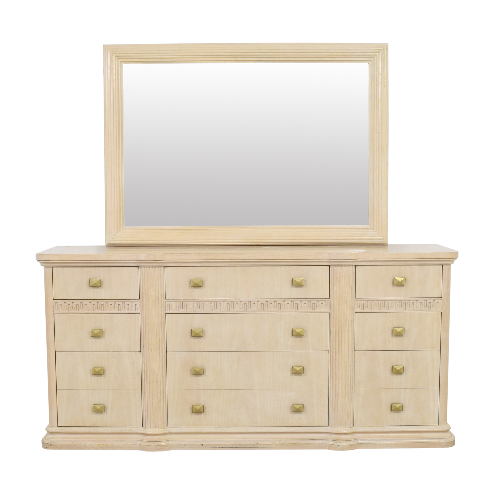 buy Drexel Heritage Wide Dresser with Mirror Drexel Heritage Storage