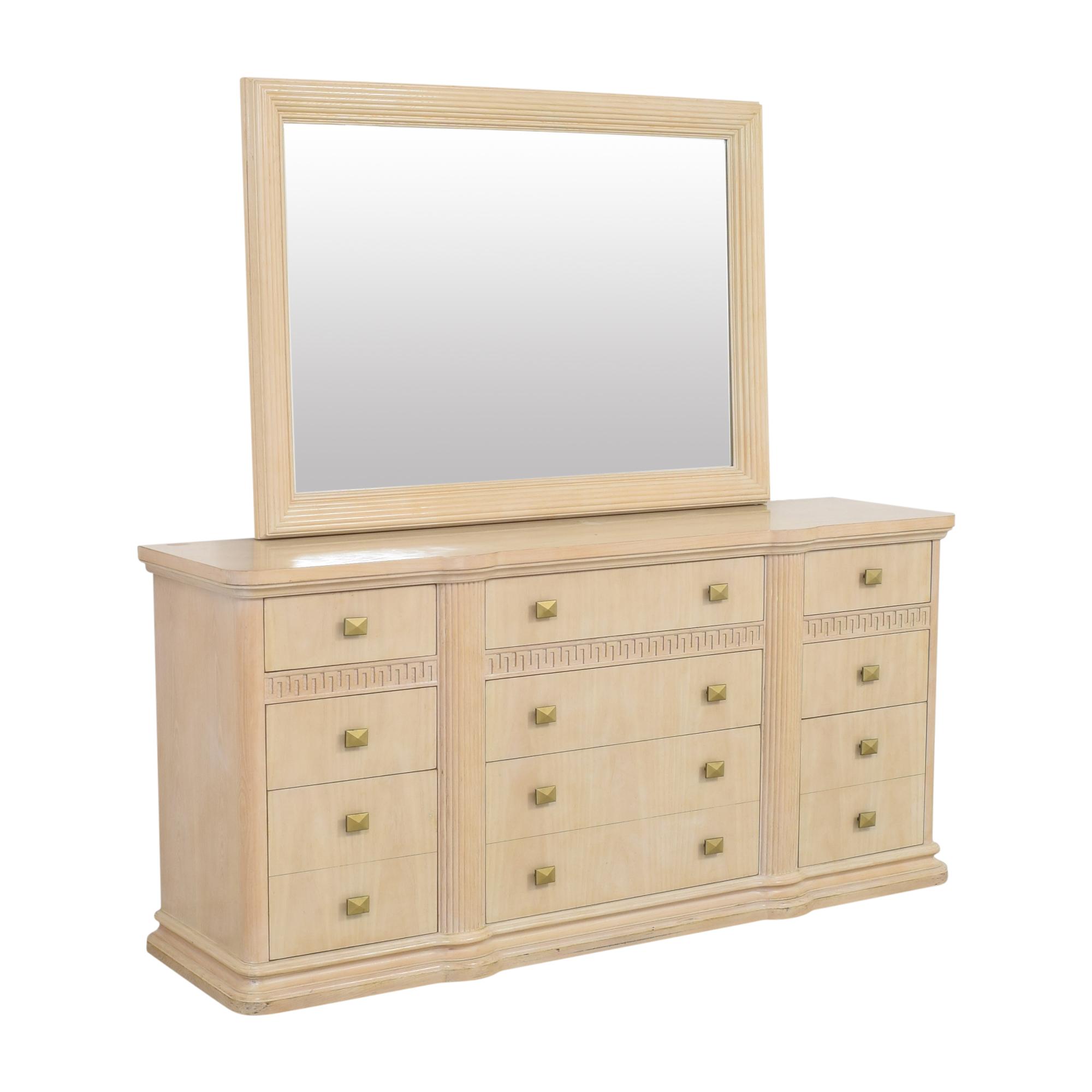 buy Drexel Heritage Wide Dresser with Mirror Drexel Heritage Storage