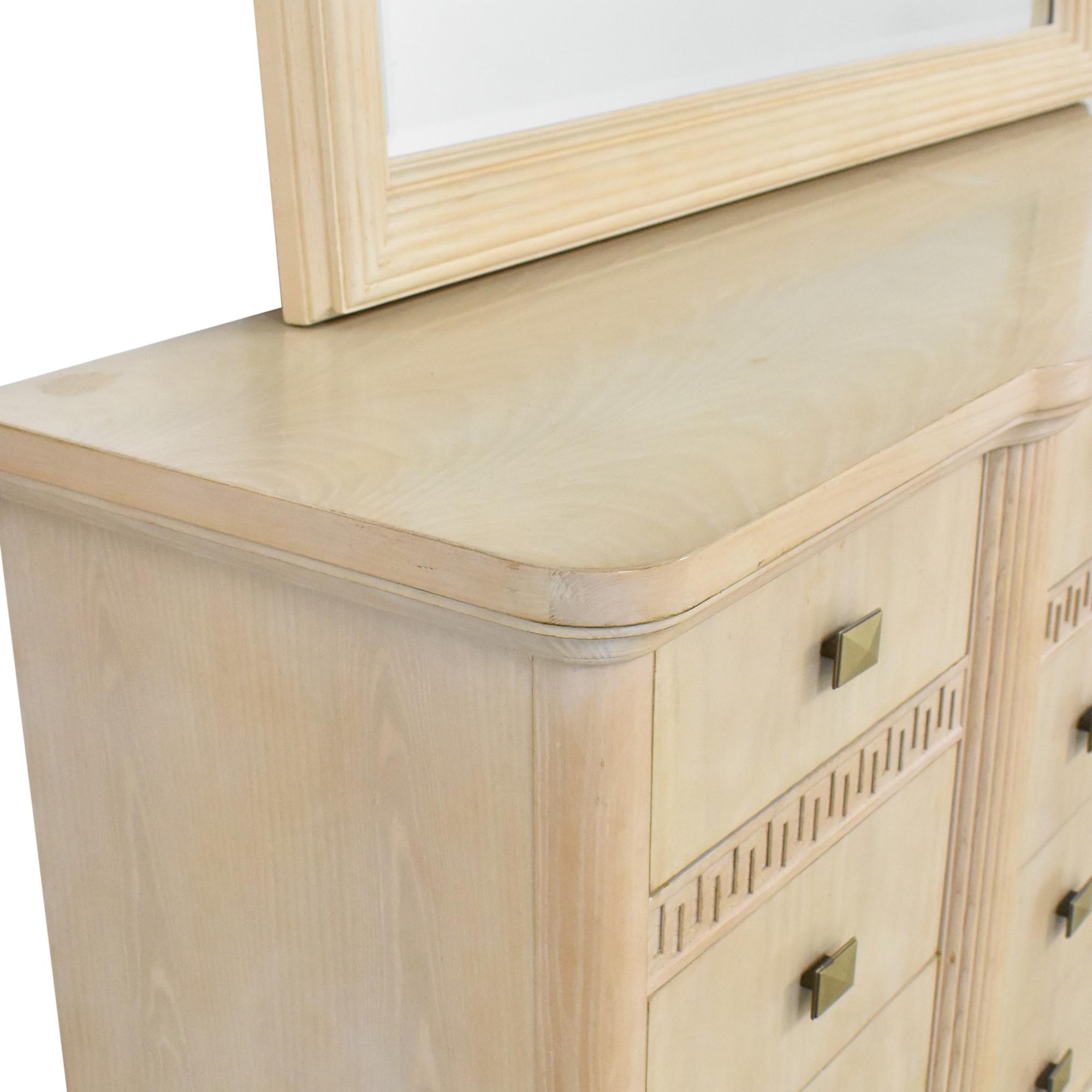 Drexel Heritage Wide Dresser with Mirror / Dressers