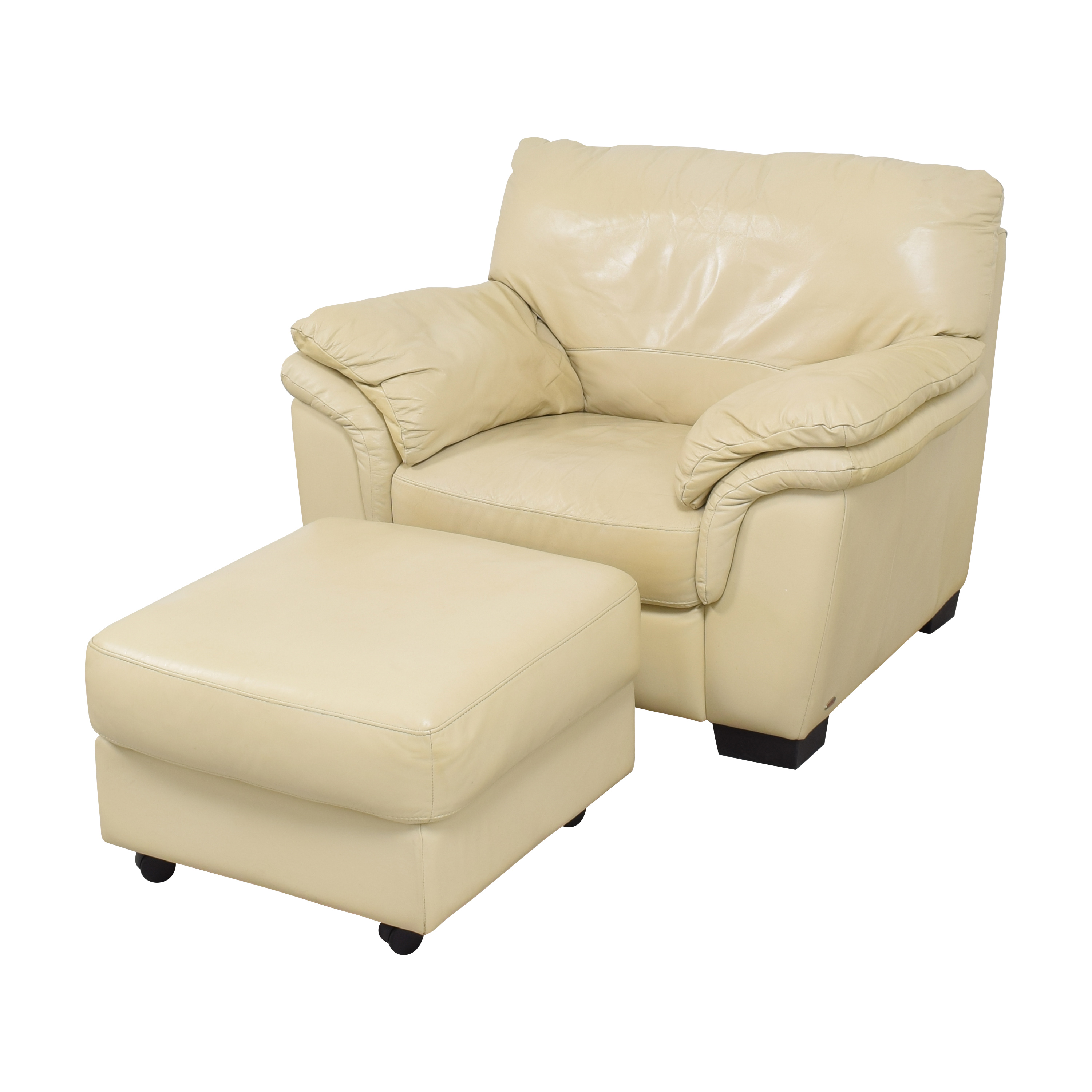 Raymour & Flanigan Raymour & Flanigan Chair with Ottoman by Italsofa discount