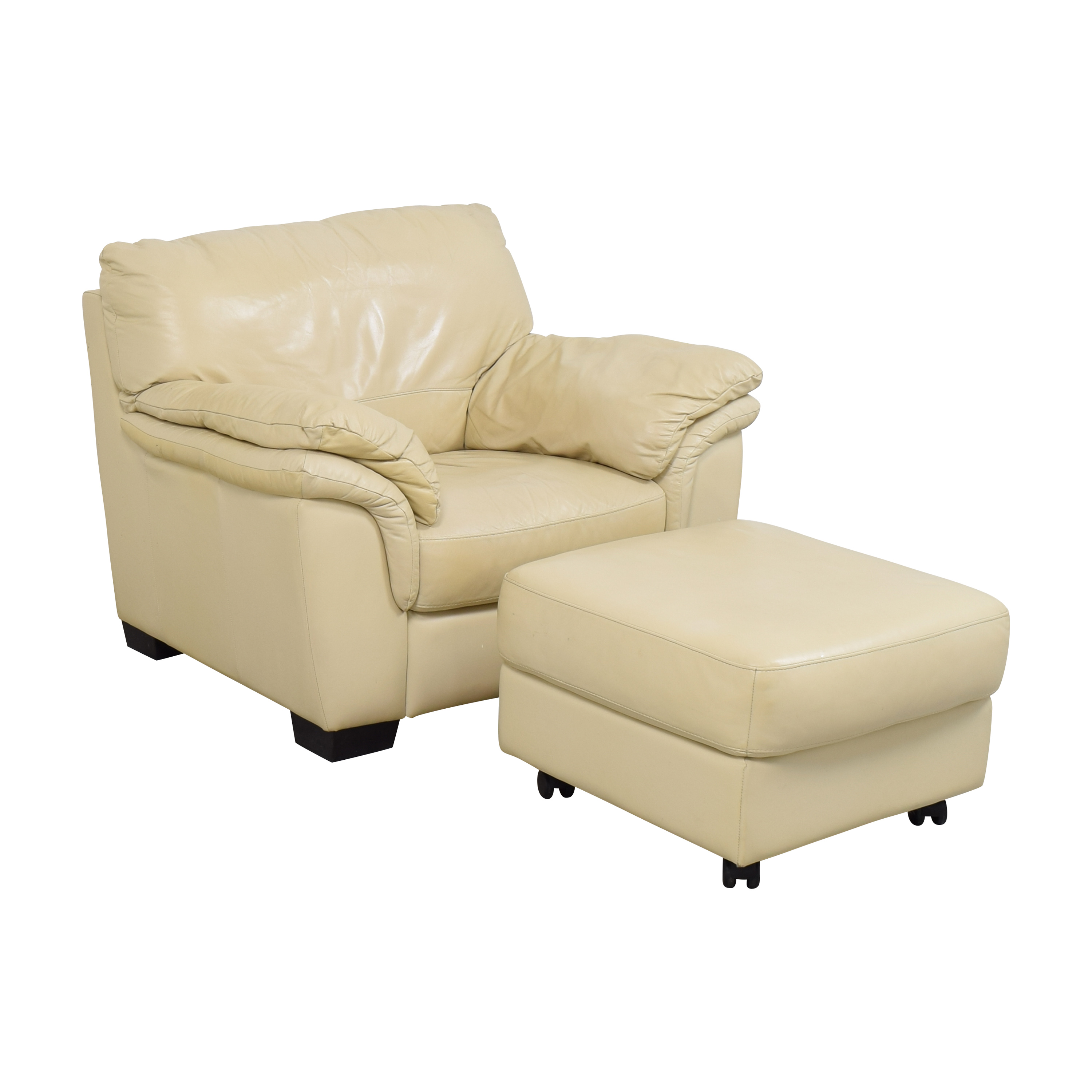 shop Raymour & Flanigan Raymour & Flanigan Chair with Ottoman by Italsofa online