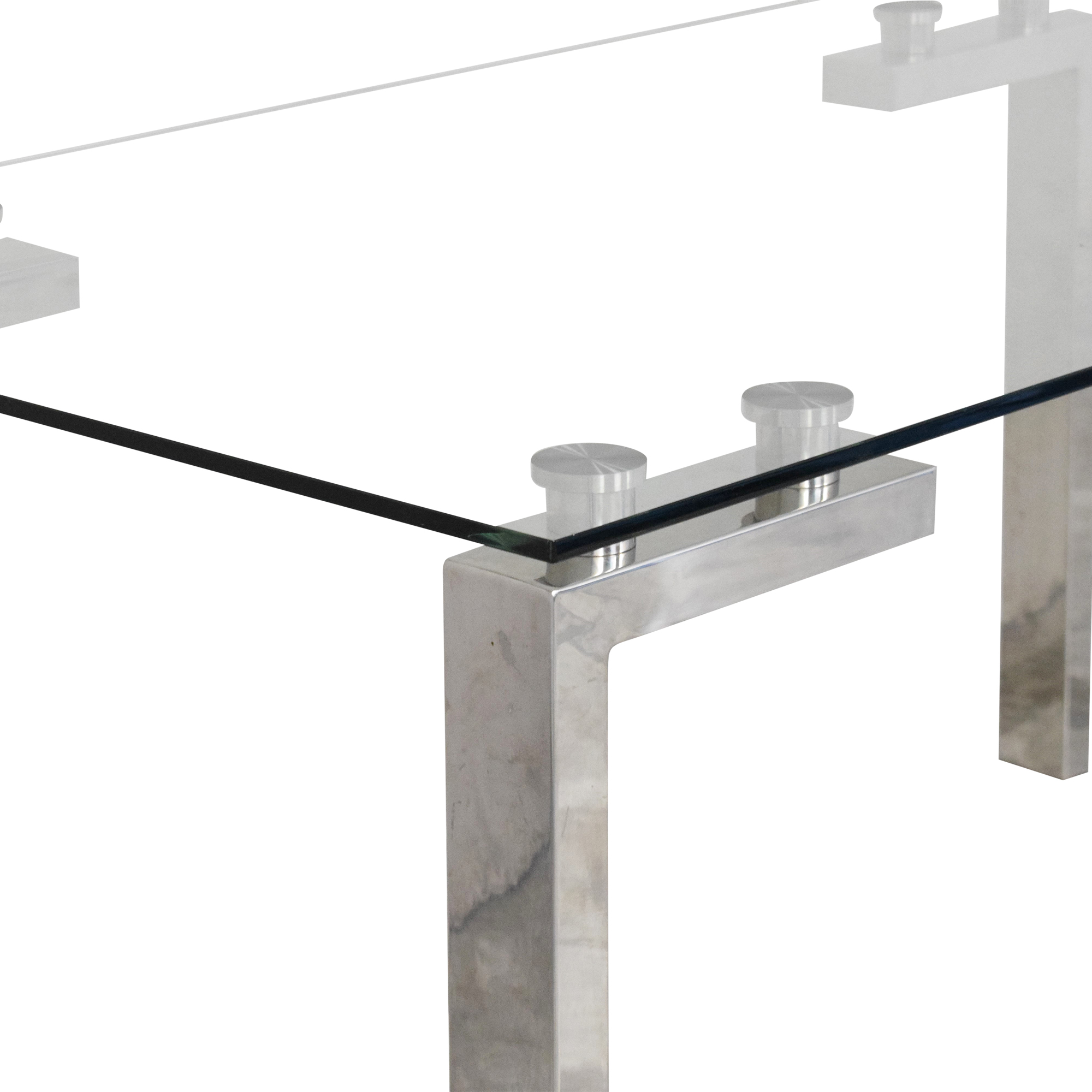 Transparent Rectangular Dining Table dimensions