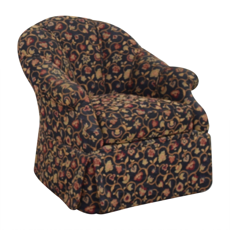 shop Kravet Prelude Skirted Swivel Chair Kravet