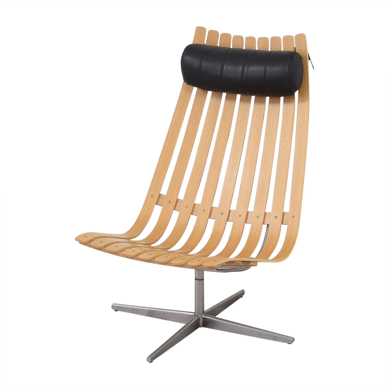 Fjordfiesta Fjordfiesta Scandia Senior Easy Swivel Chair by Hans Brattrud dimensions