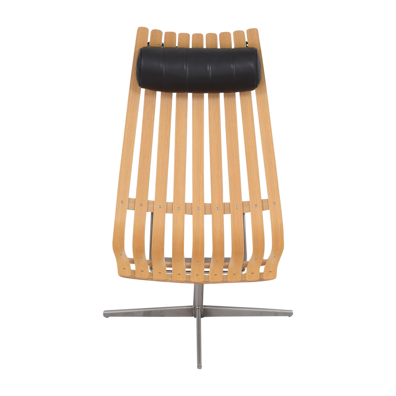 shop Fjordfiesta Scandia Senior Easy Swivel Chair by Hans Brattrud Fjordfiesta Accent Chairs