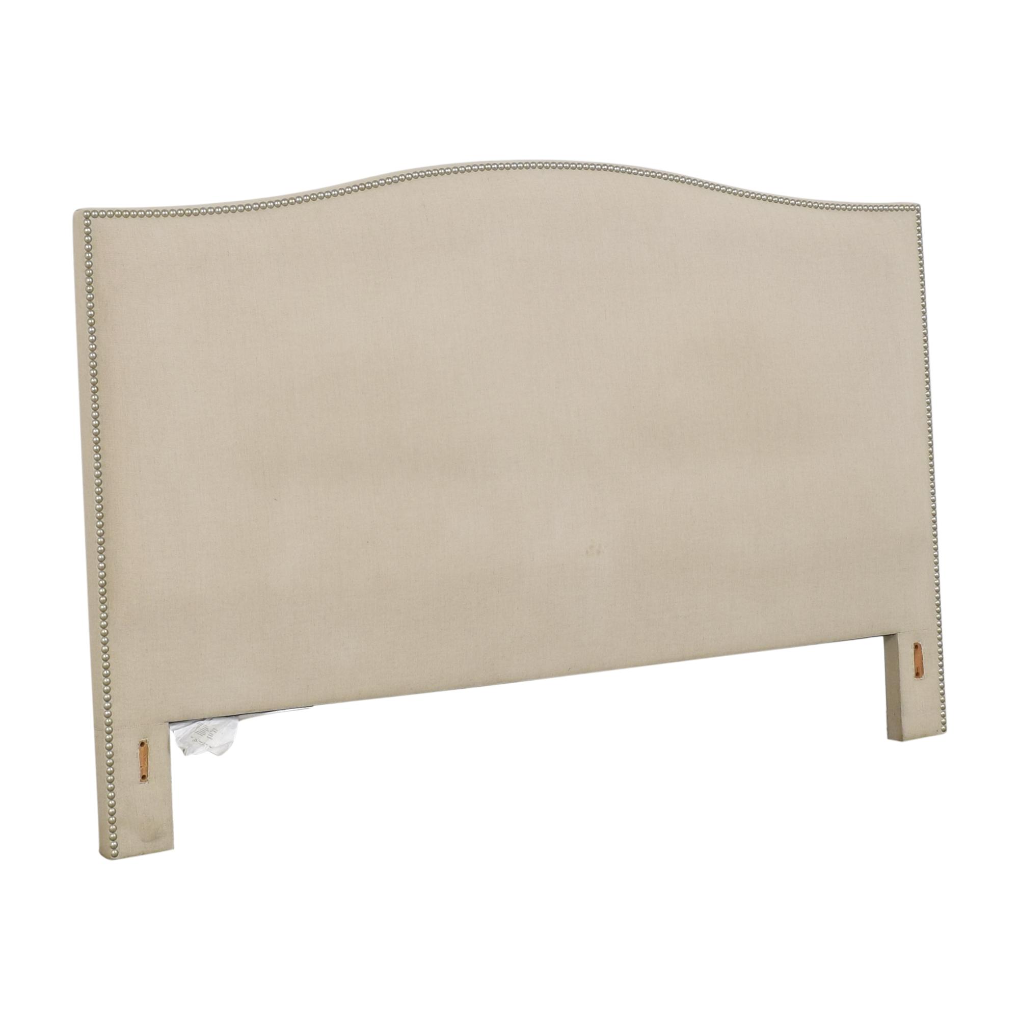 Crate & Barrel Crate & Barrel Colette Upholstered Nailhead King Headboard price