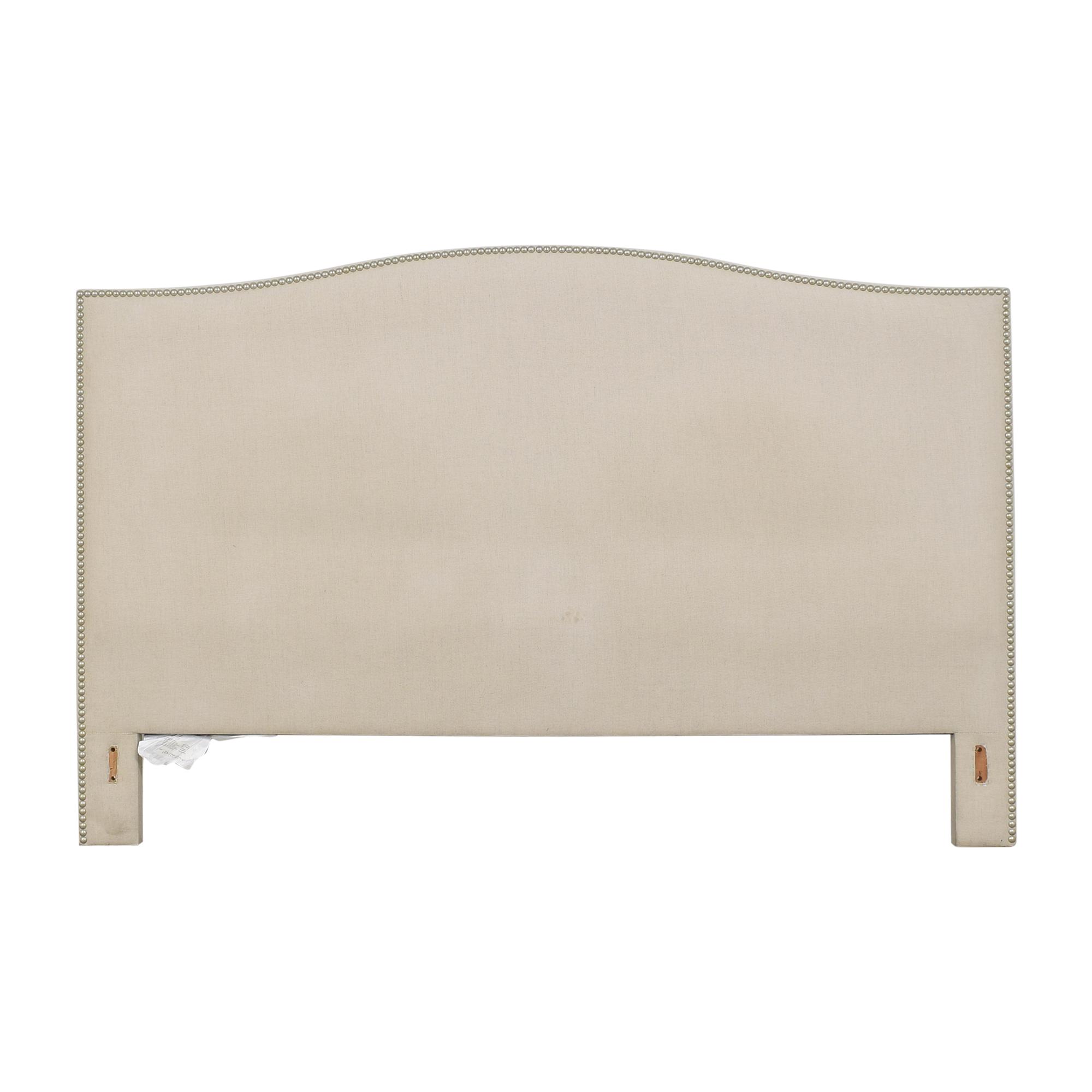 Crate & Barrel Crate & Barrel Colette Upholstered Nailhead King Headboard beige