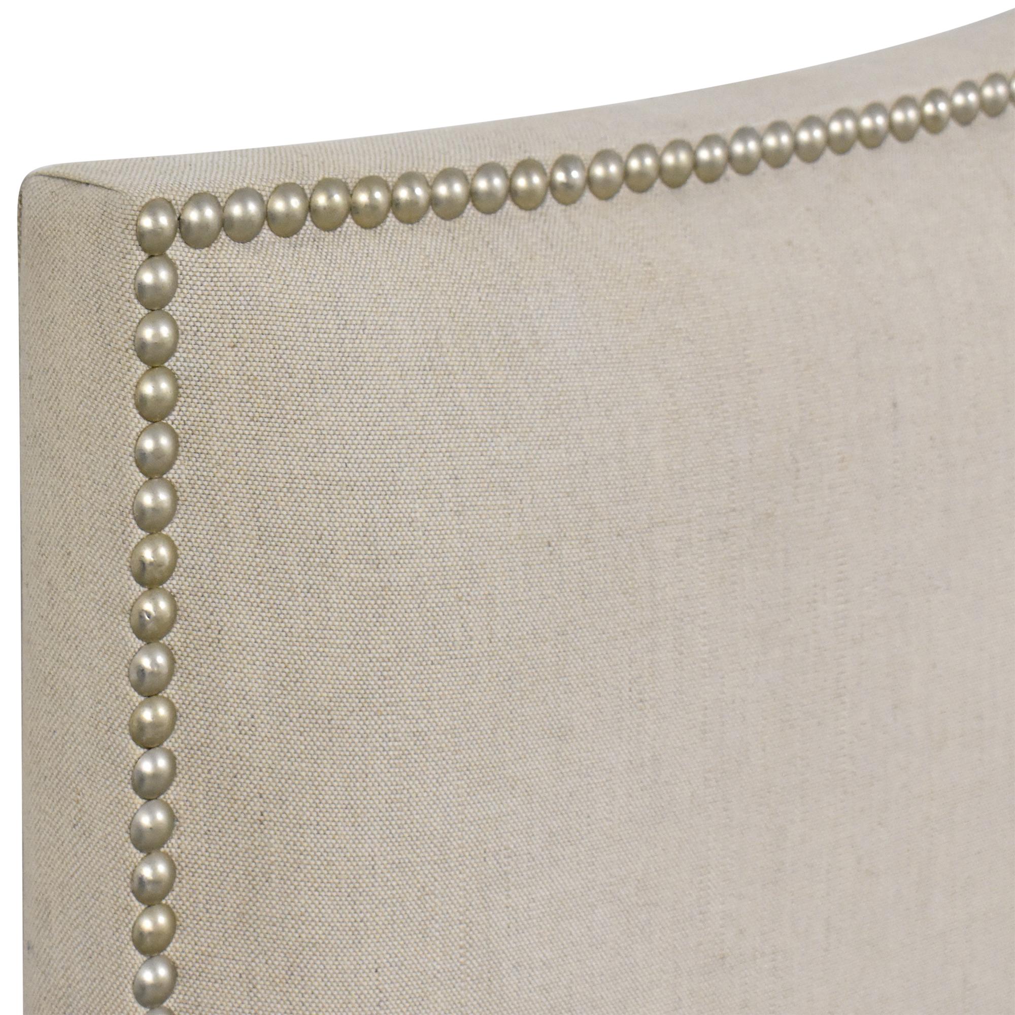 Crate & Barrel Crate & Barrel Colette Upholstered Nailhead King Headboard nyc