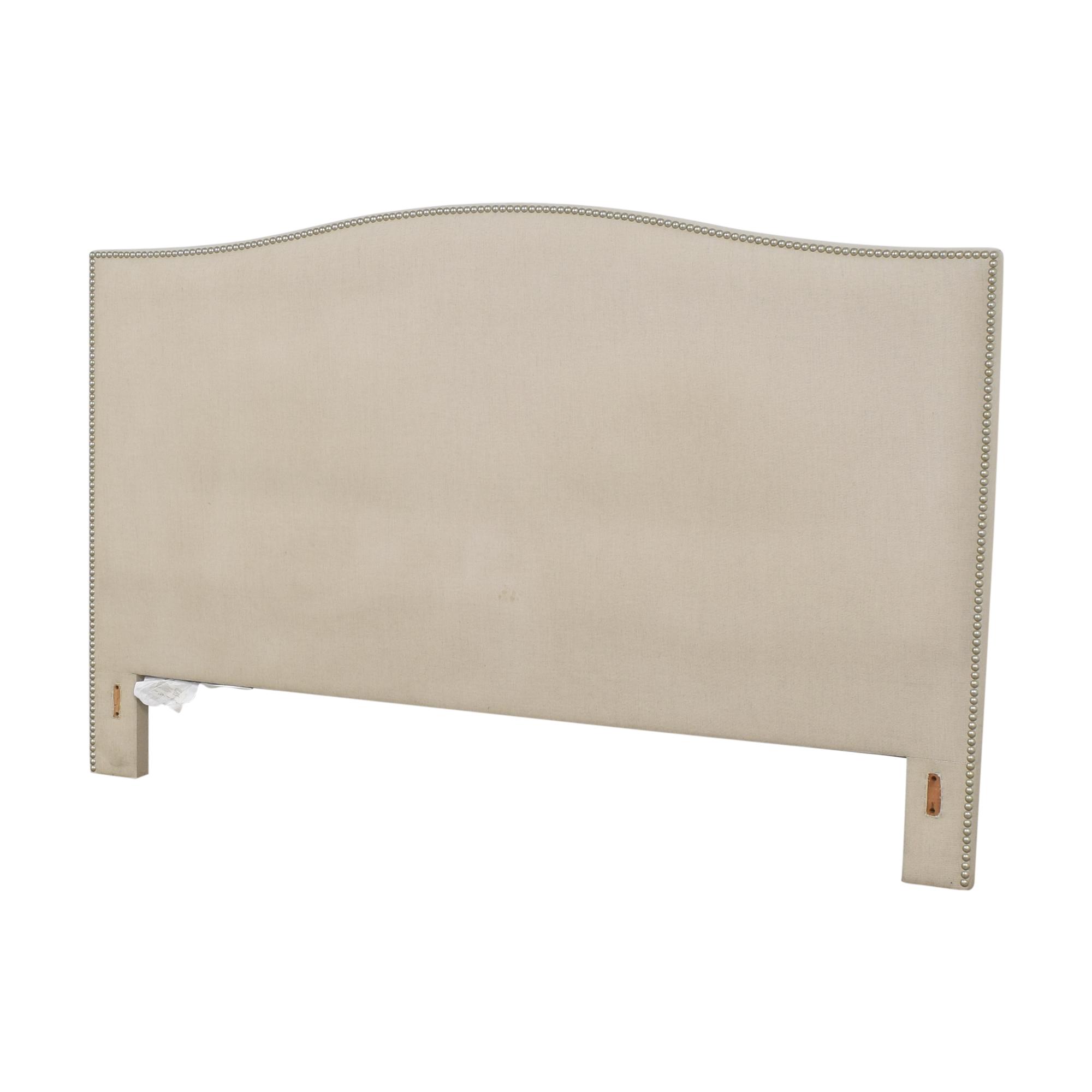 shop Crate & Barrel Crate & Barrel Colette Upholstered Nailhead King Headboard online