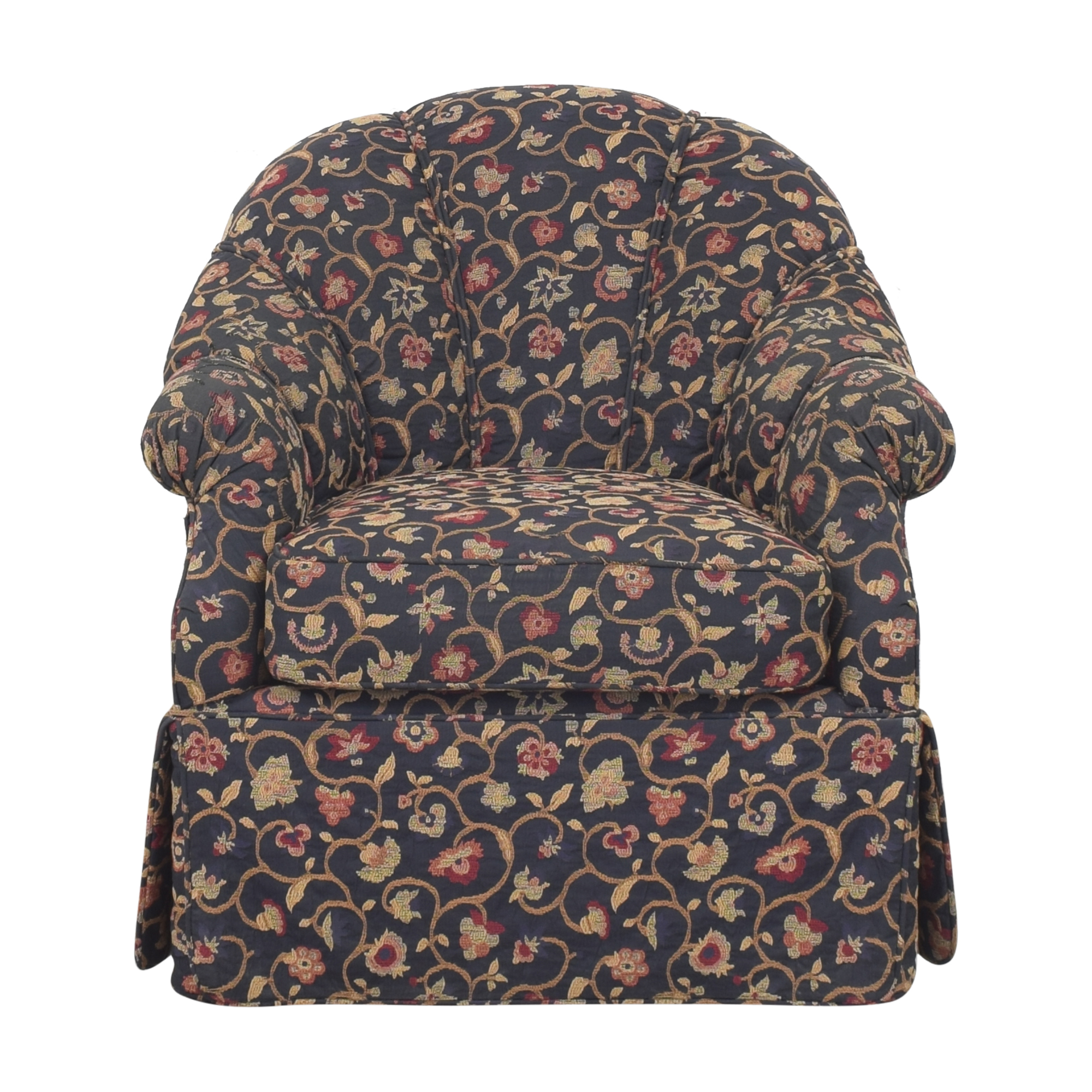 Kravet Prelude Skirted Swivel Chair sale