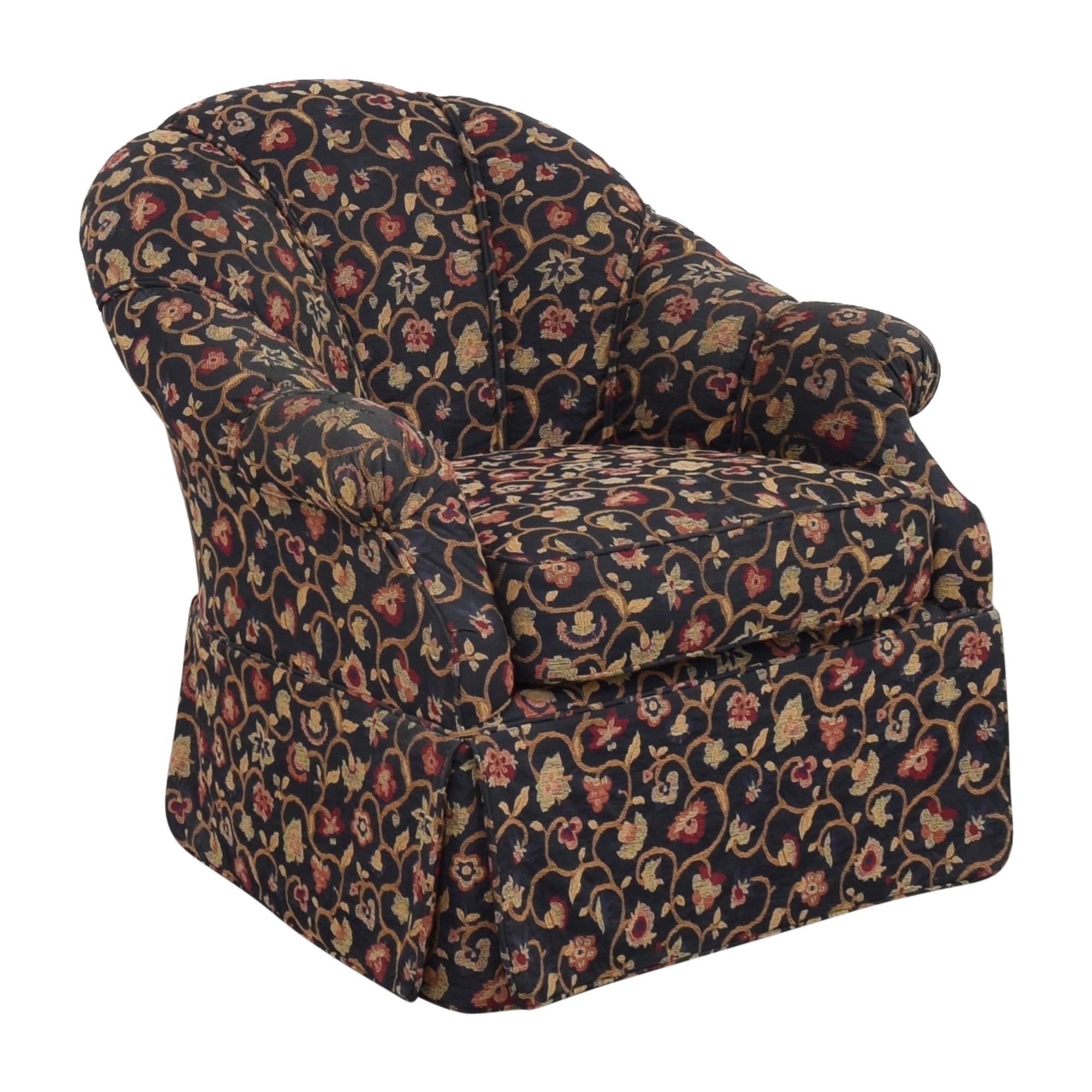 buy Kravet Prelude Skirted Swivel Chair Kravet