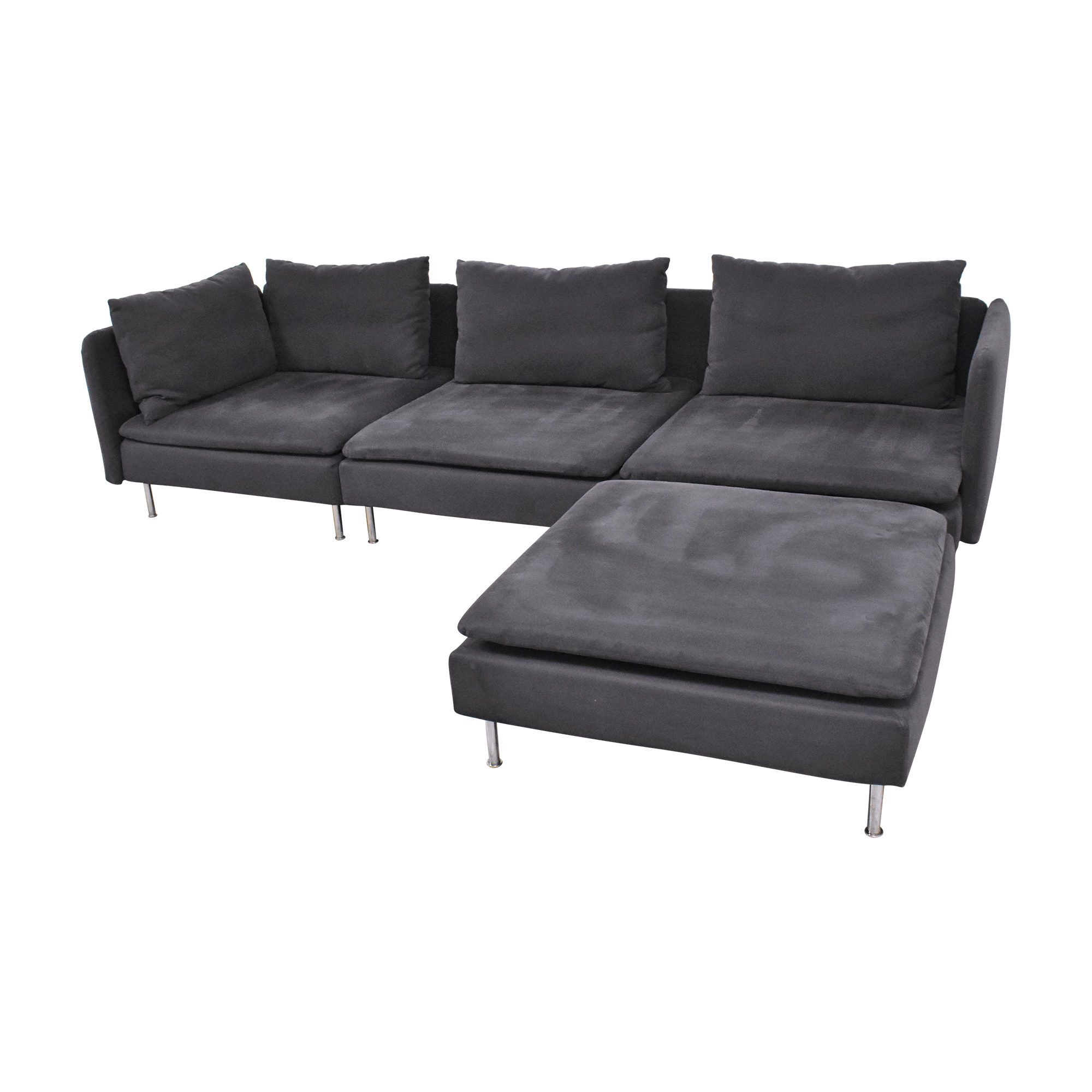 IKEA IKEA SÖDERHAMN Sectional Sofa with Ottoman second hand