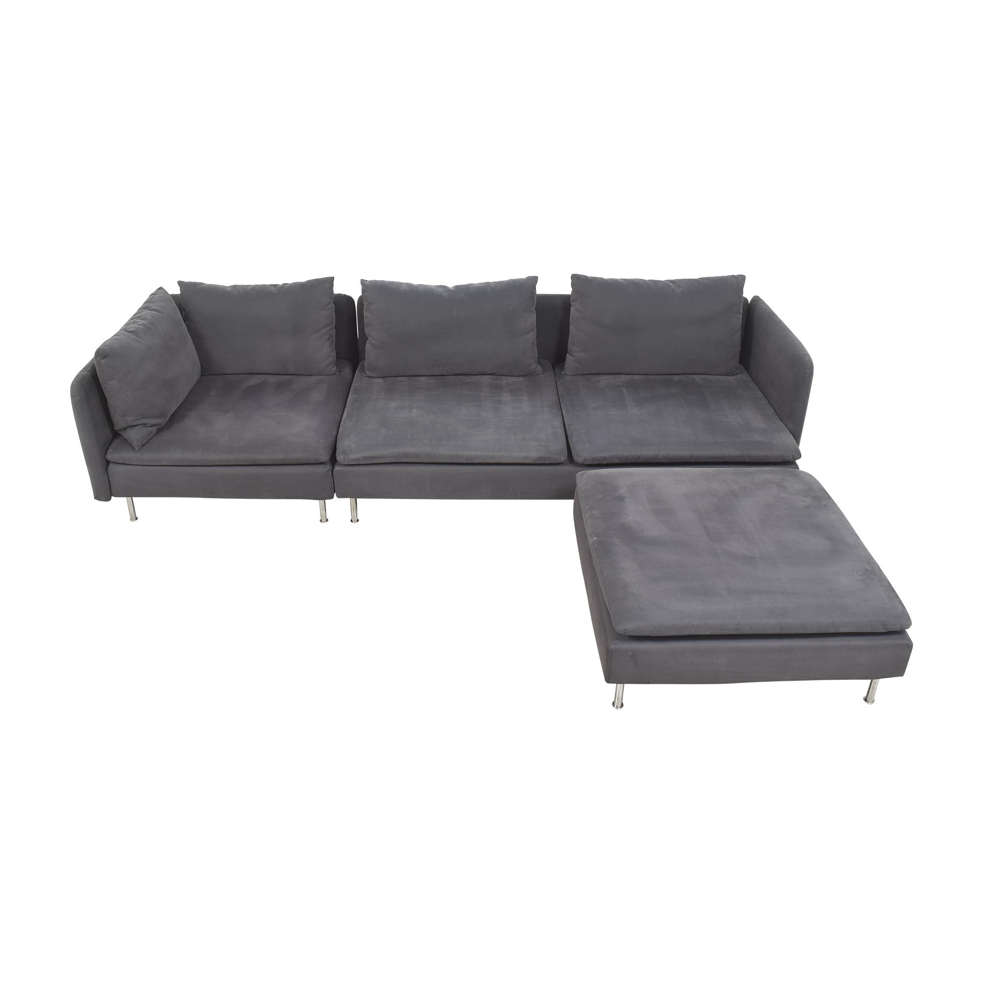 IKEA IKEA SÖDERHAMN Sectional Sofa with Ottoman price