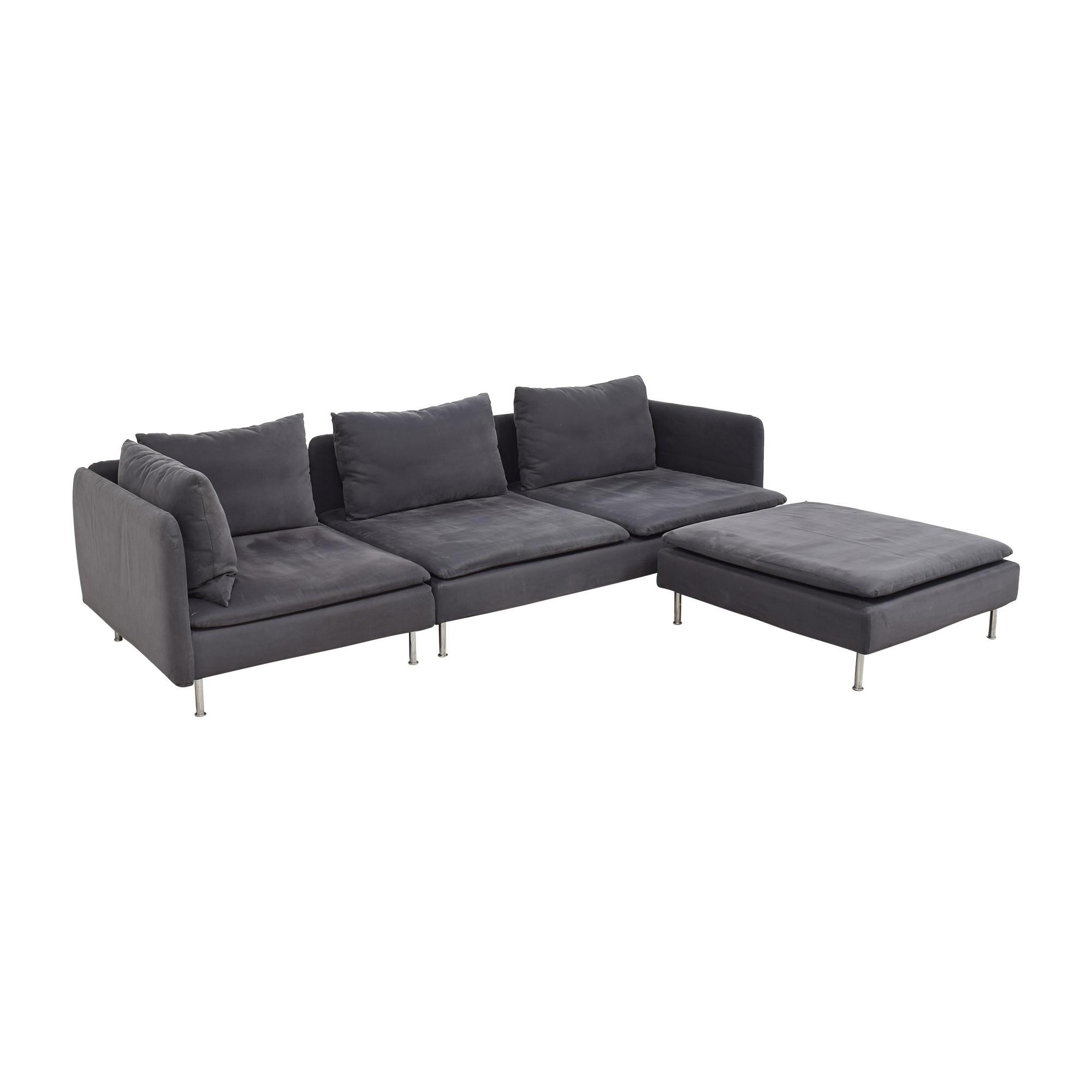 IKEA IKEA SÖDERHAMN Sectional Sofa with Ottoman dimensions