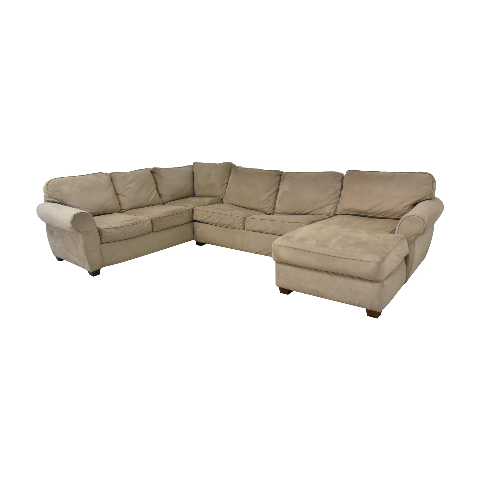 Macy's Macy's Chaise Sectional Sleeper Sofa with Ottoman dimensions