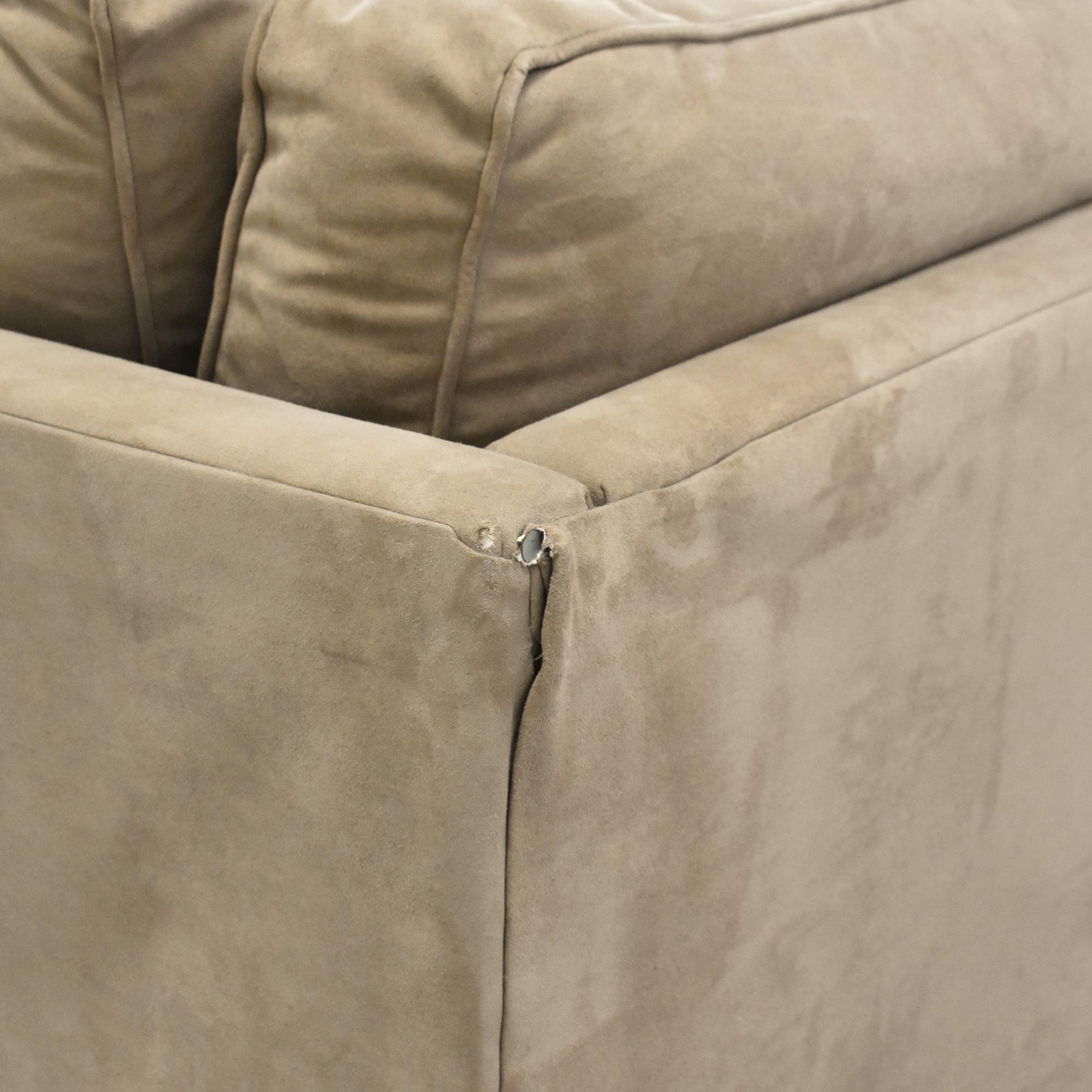 Macy's Macy's Chaise Sectional Sleeper Sofa with Ottoman nyc