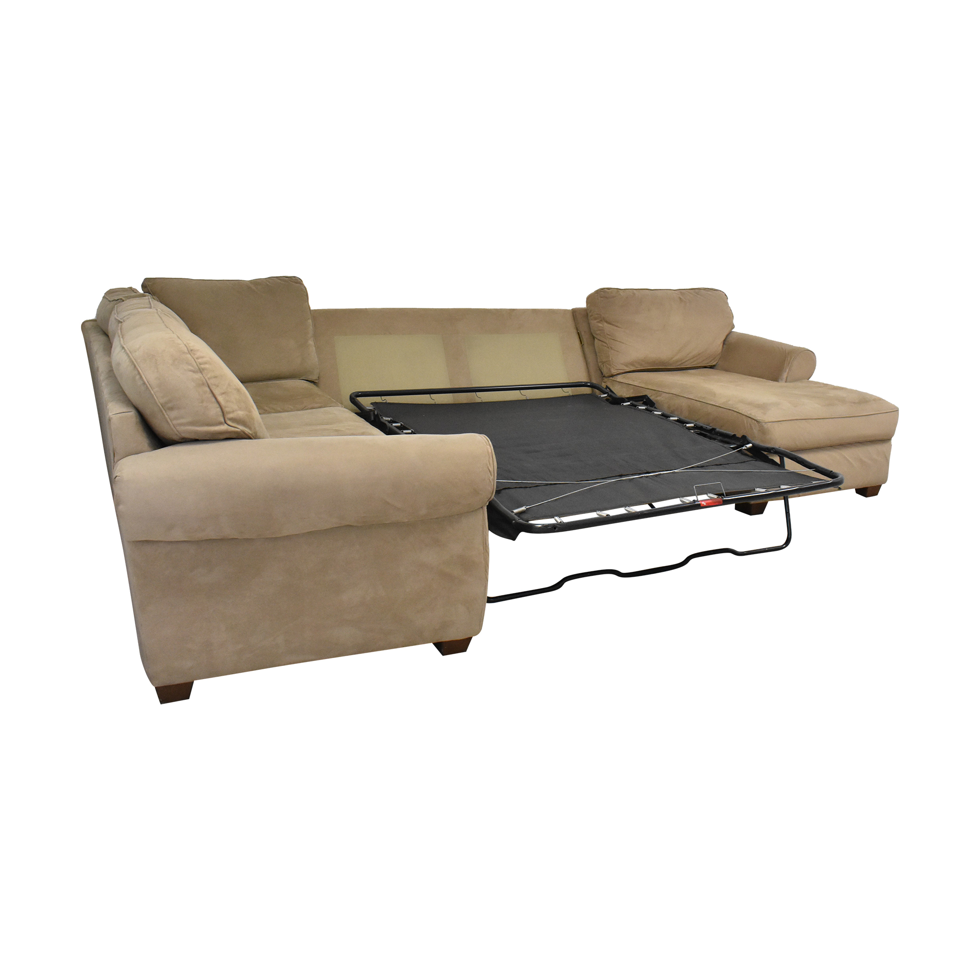 Macy's Chaise Sectional Sleeper Sofa with Ottoman Macy's