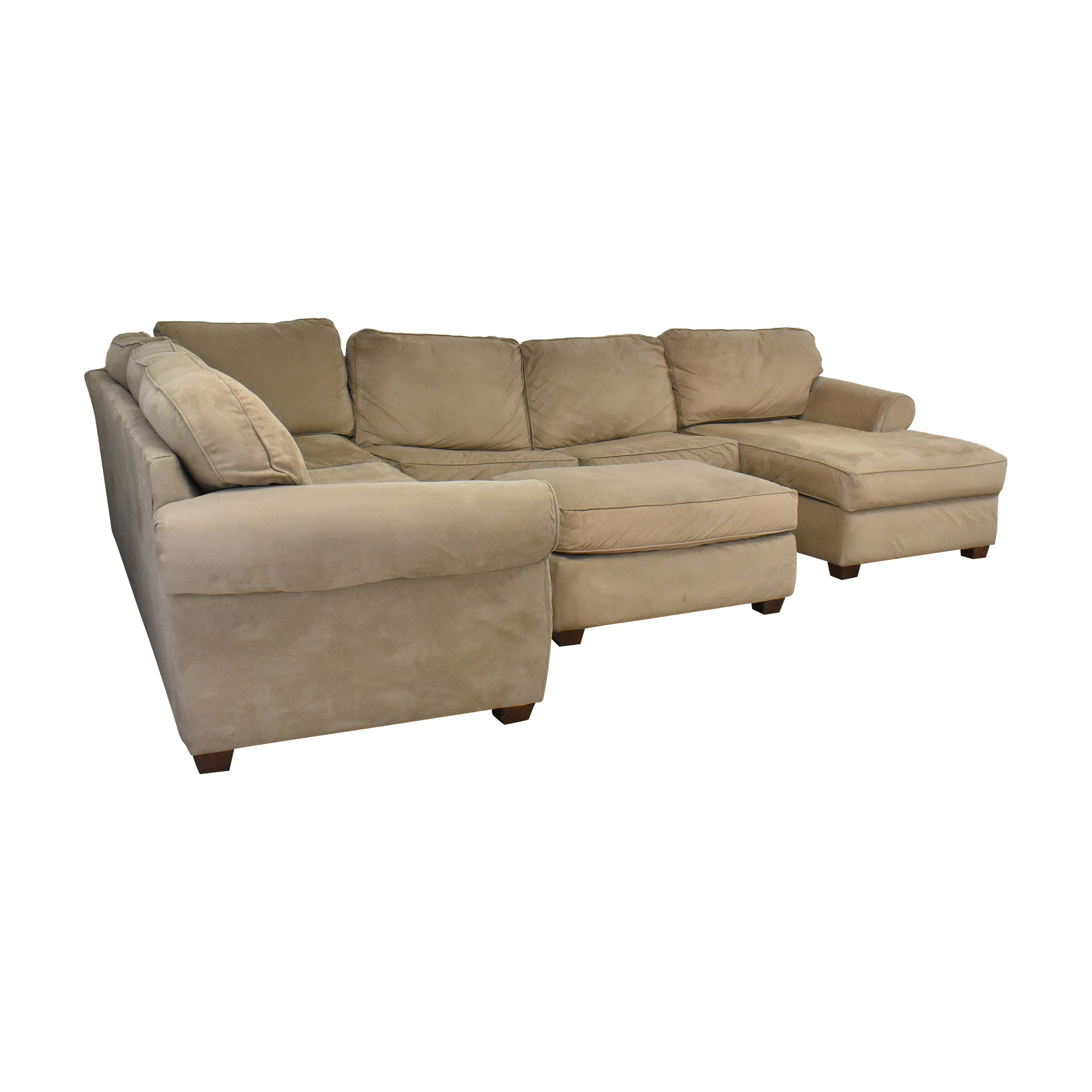 Macy's Macy's Chaise Sectional Sleeper Sofa with Ottoman second hand