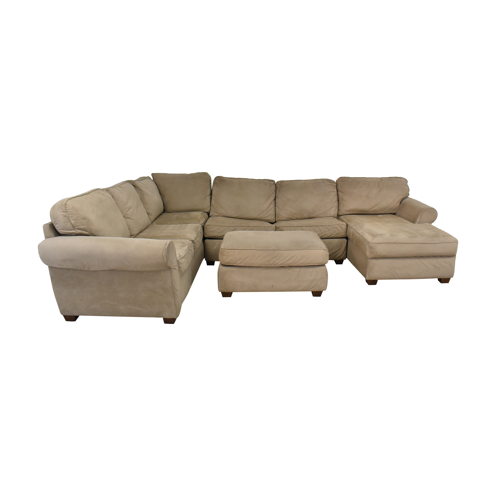 Macy's Macy's Chaise Sectional Sleeper Sofa with Ottoman Sectionals