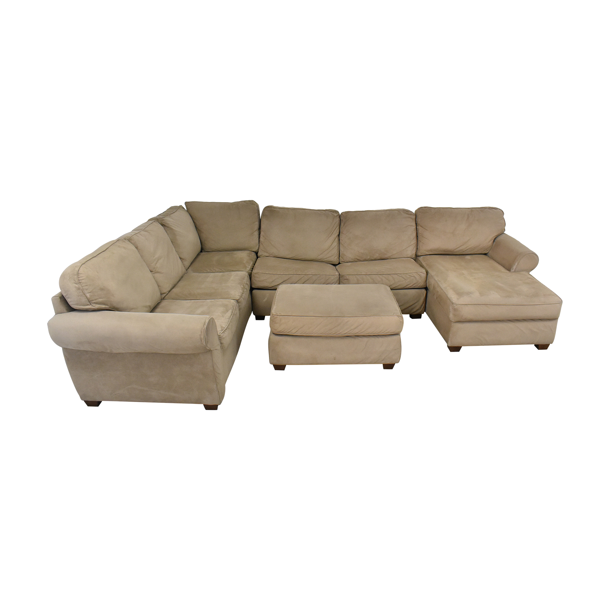 Macy's Macy's Chaise Sectional Sleeper Sofa with Ottoman ma