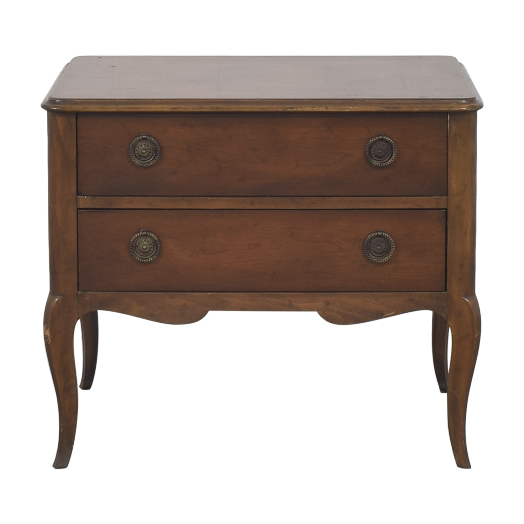 Baker Furniture Baker Furniture Two Drawer Nightstand brown
