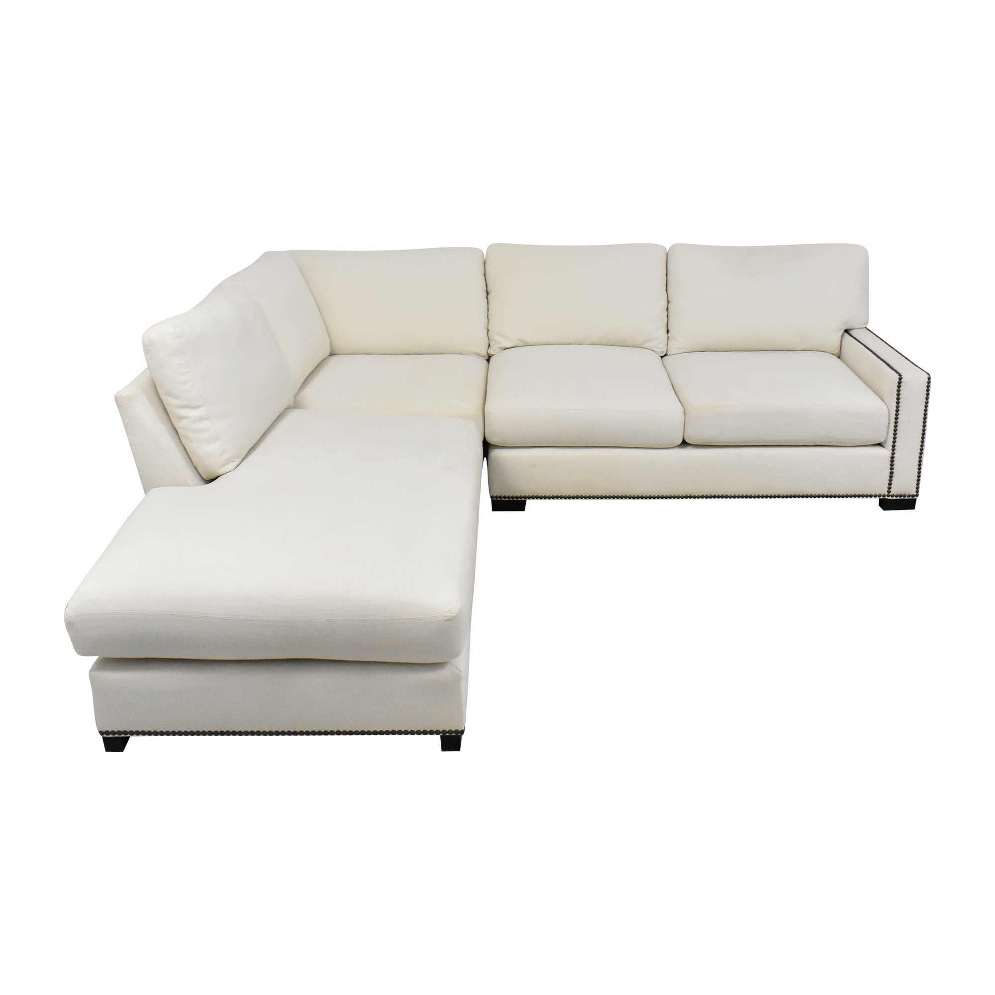 Pottery Barn Turner Nailhead Chaise Sectional Sofa / Sofas