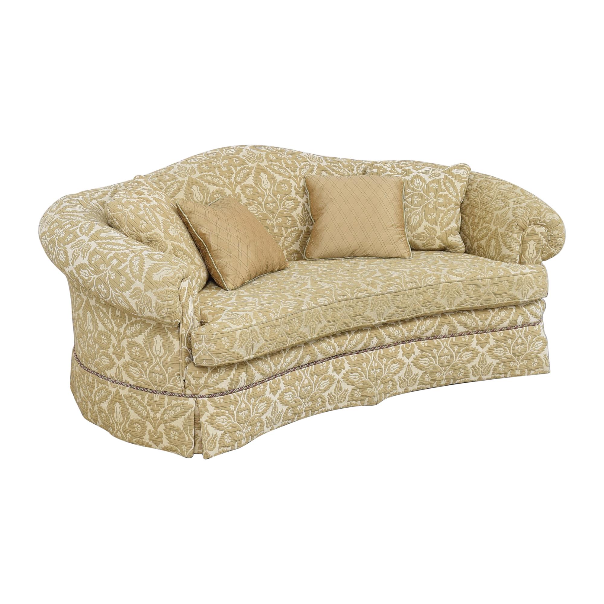 shop Sherrill Furniture Sherrill Furniture Curved Camel Back Sofa online