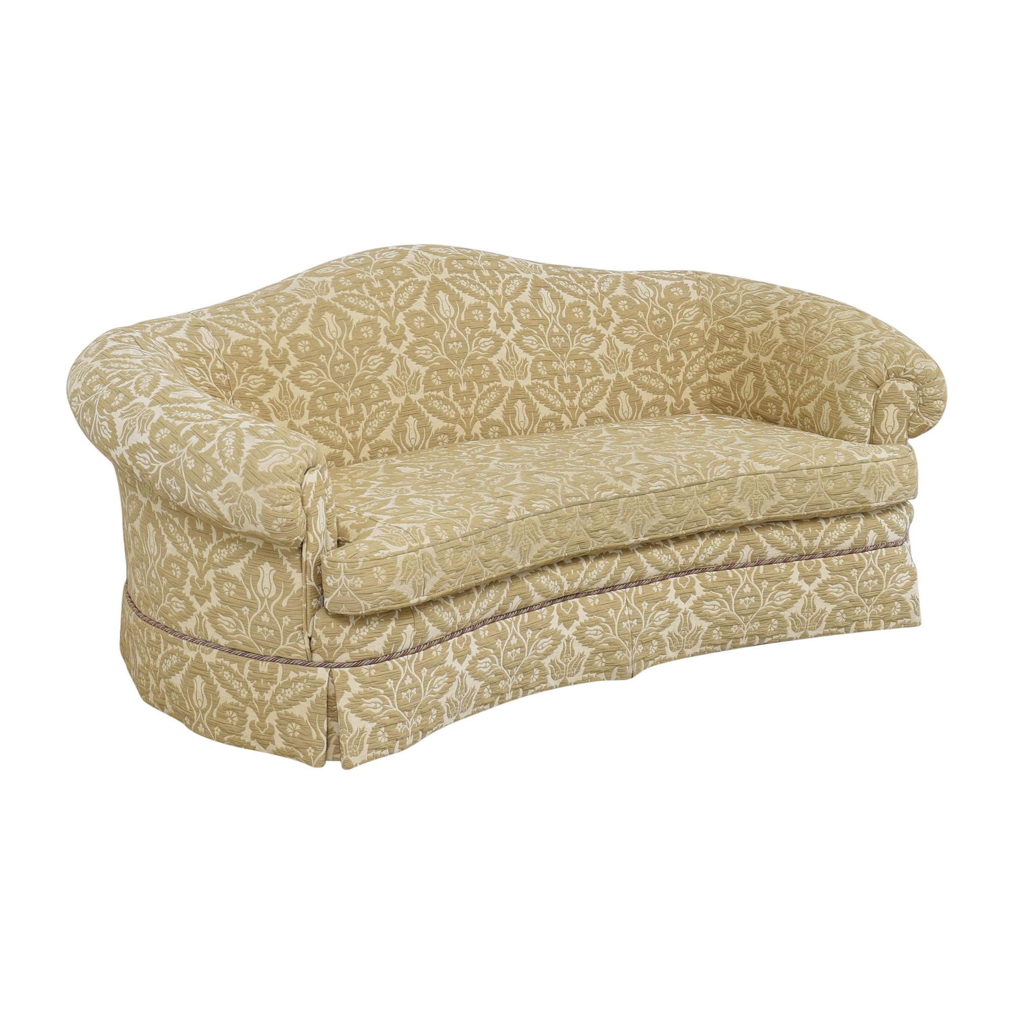 Sherrill Furniture Sherrill Furniture Curved Camel Back Sofa on sale