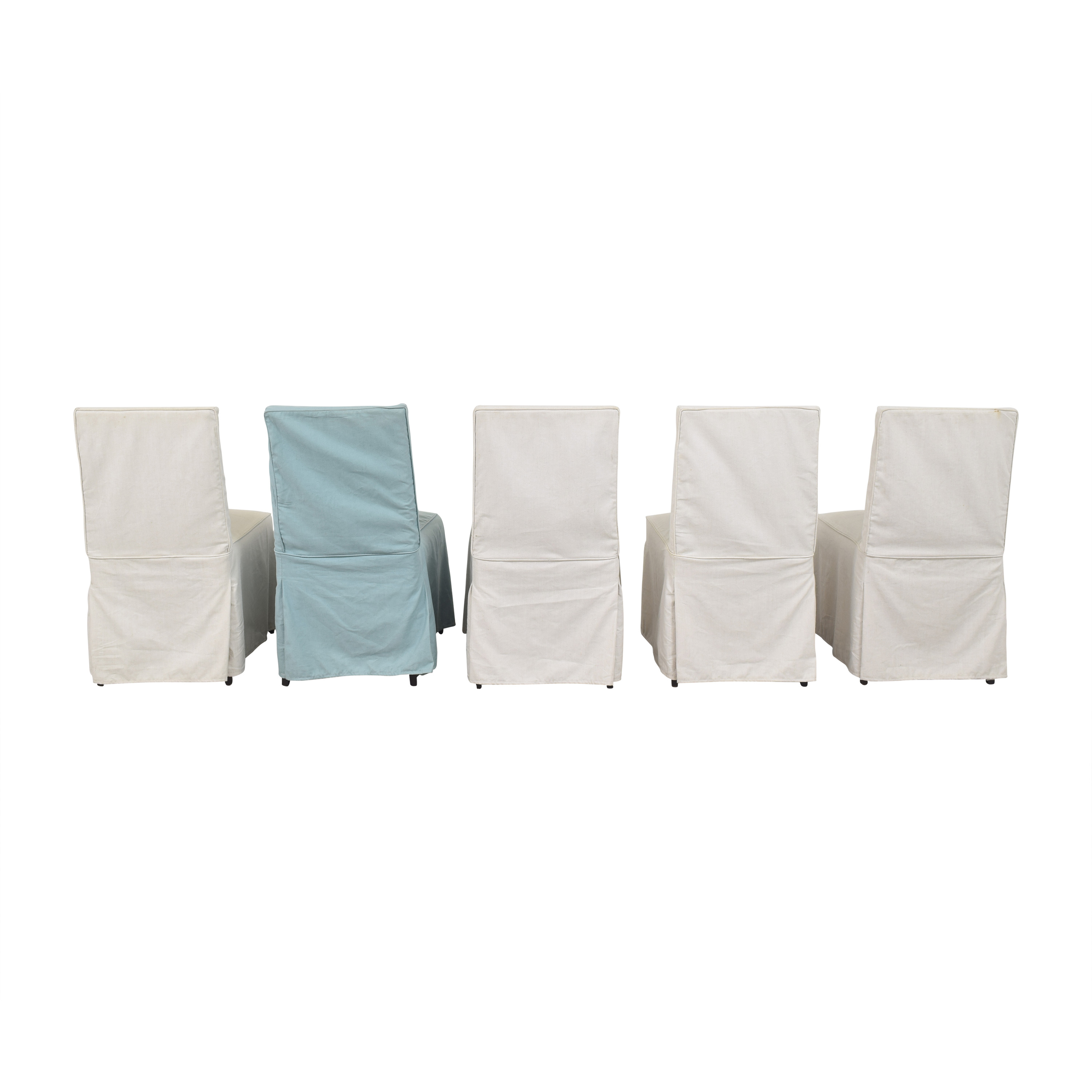 Crate & Barrel Crate & Barrel Slipcovered Dining Chairs nj