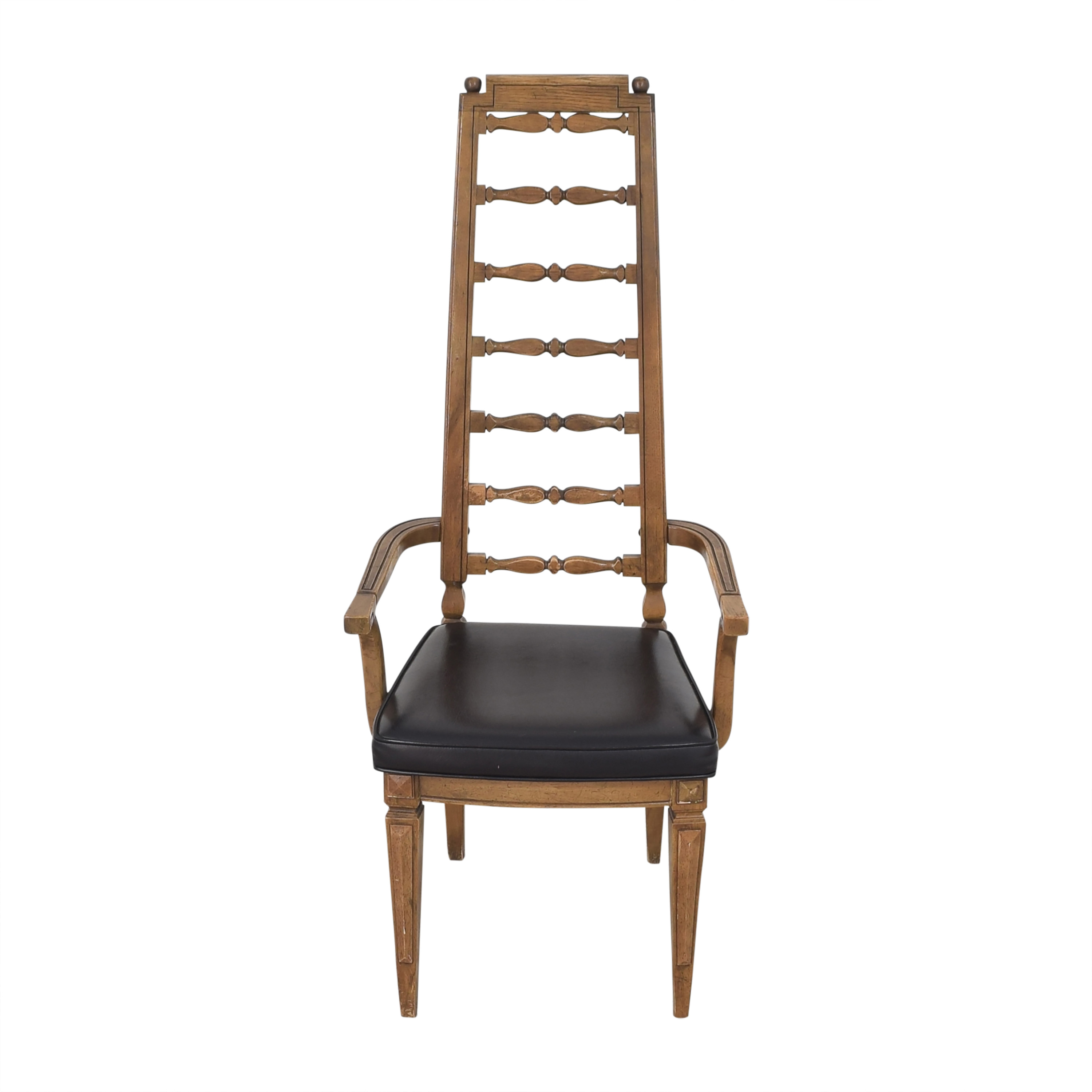 Thomasville Thomasville Tall Ladder Back Dining Arm Chair second hand
