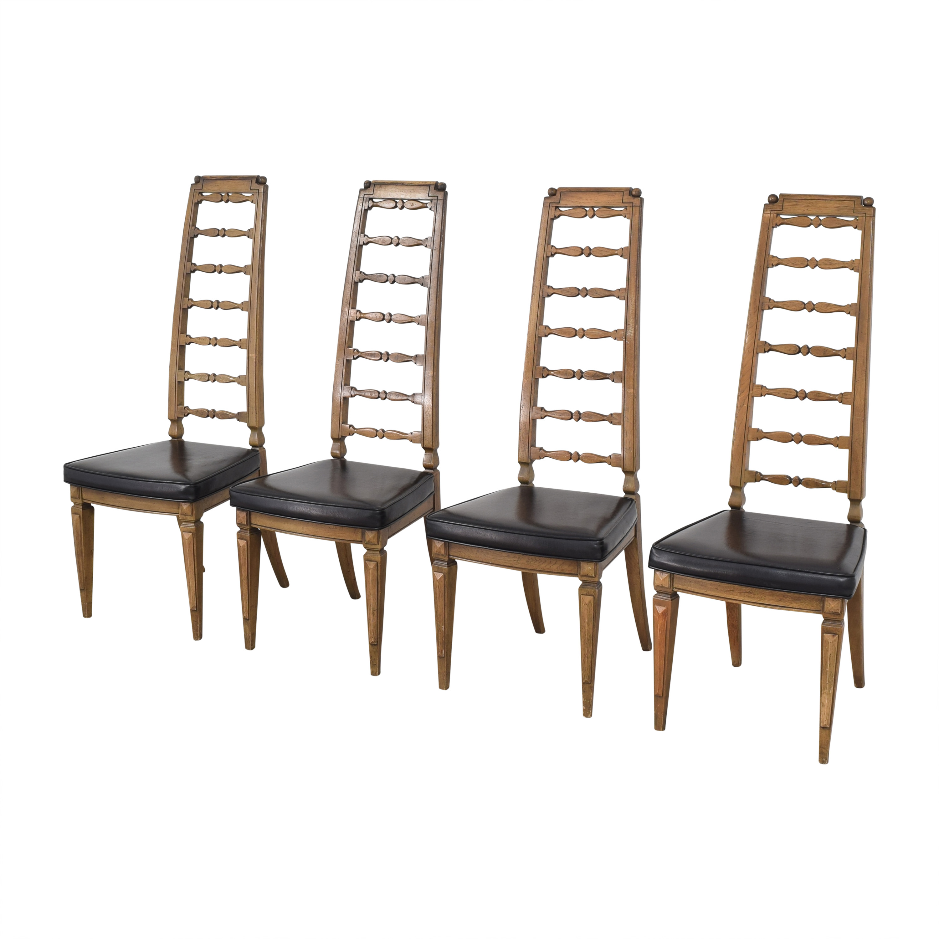 Thomasville Thomasville Tall Ladder Back Dining Chairs second hand