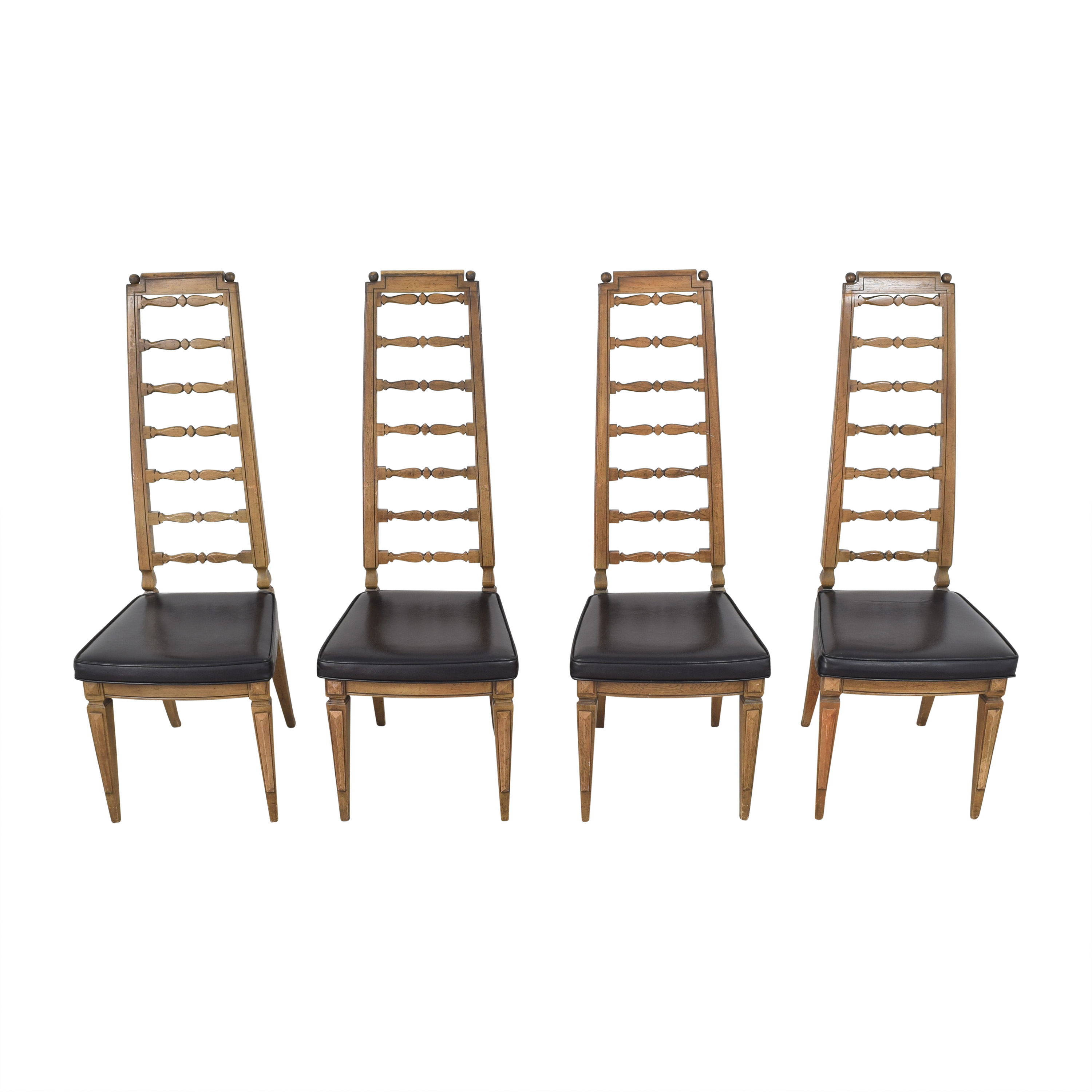Thomasville Tall Ladder Back Dining Chairs / Dining Chairs