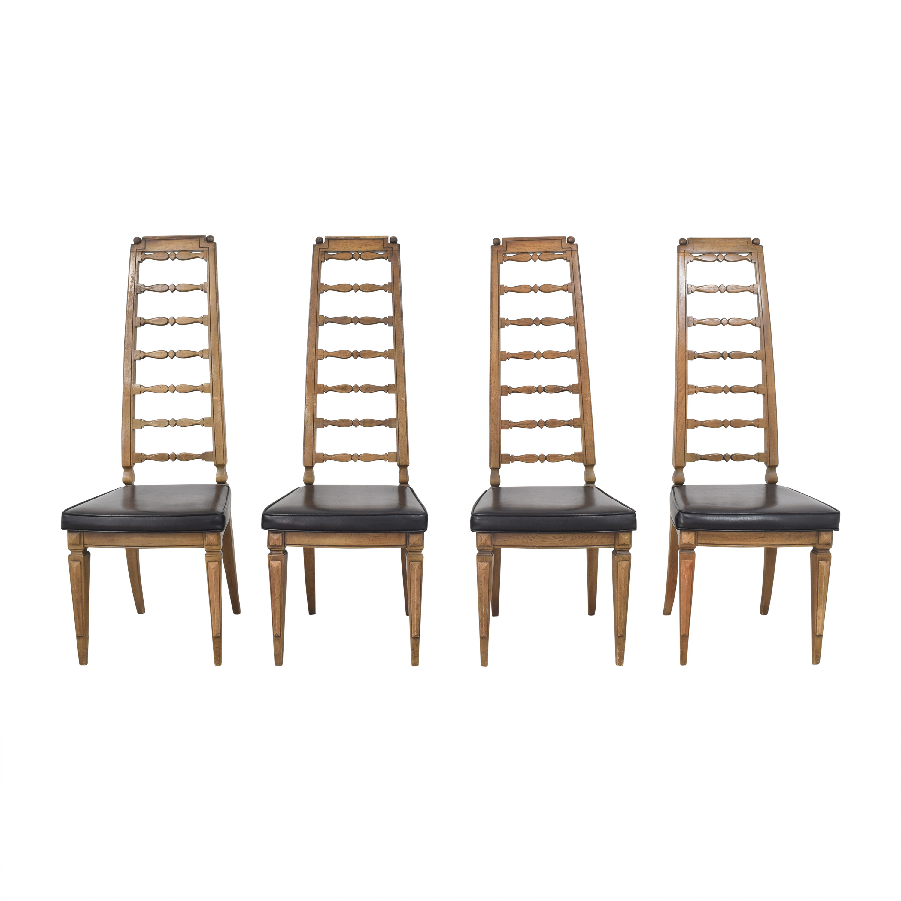 Thomasville Thomasville Tall Ladder Back Dining Chairs ma