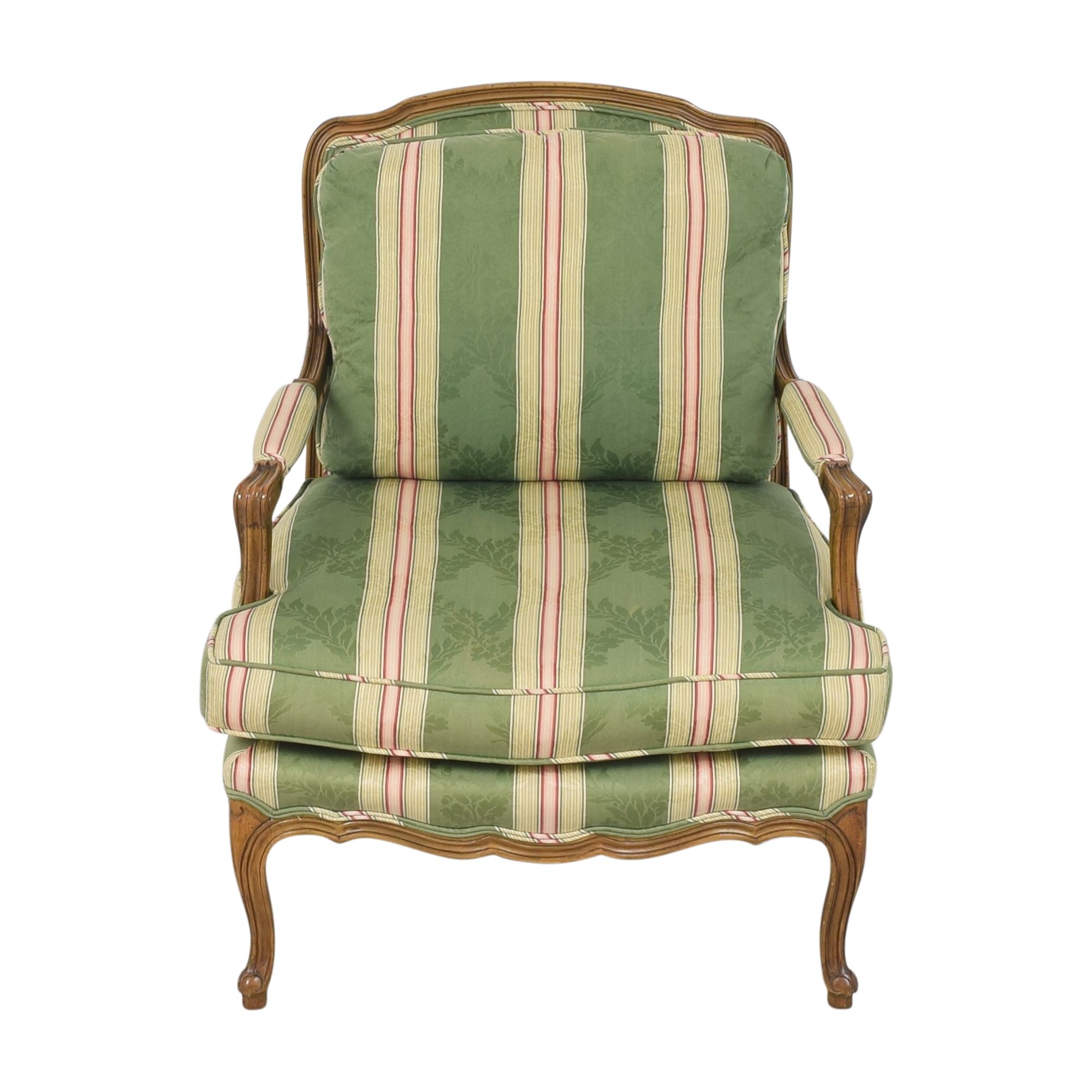 Baker Furniture Baker Furniture Stripe Damask Accent Chair ct