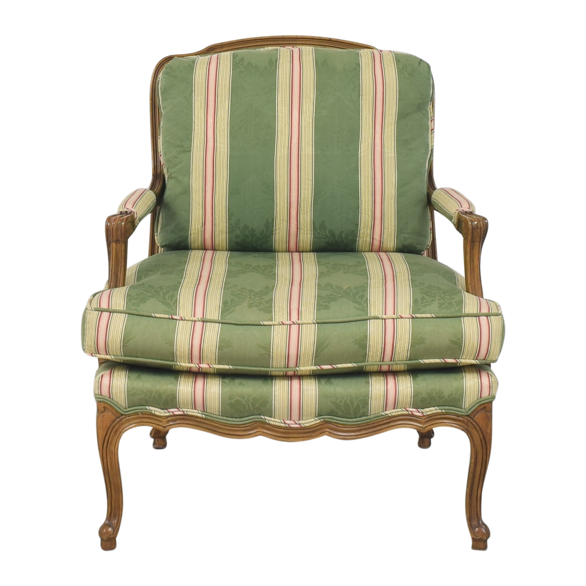 Baker Furniture Baker Furniture Stripe Damask Accent Chair nj