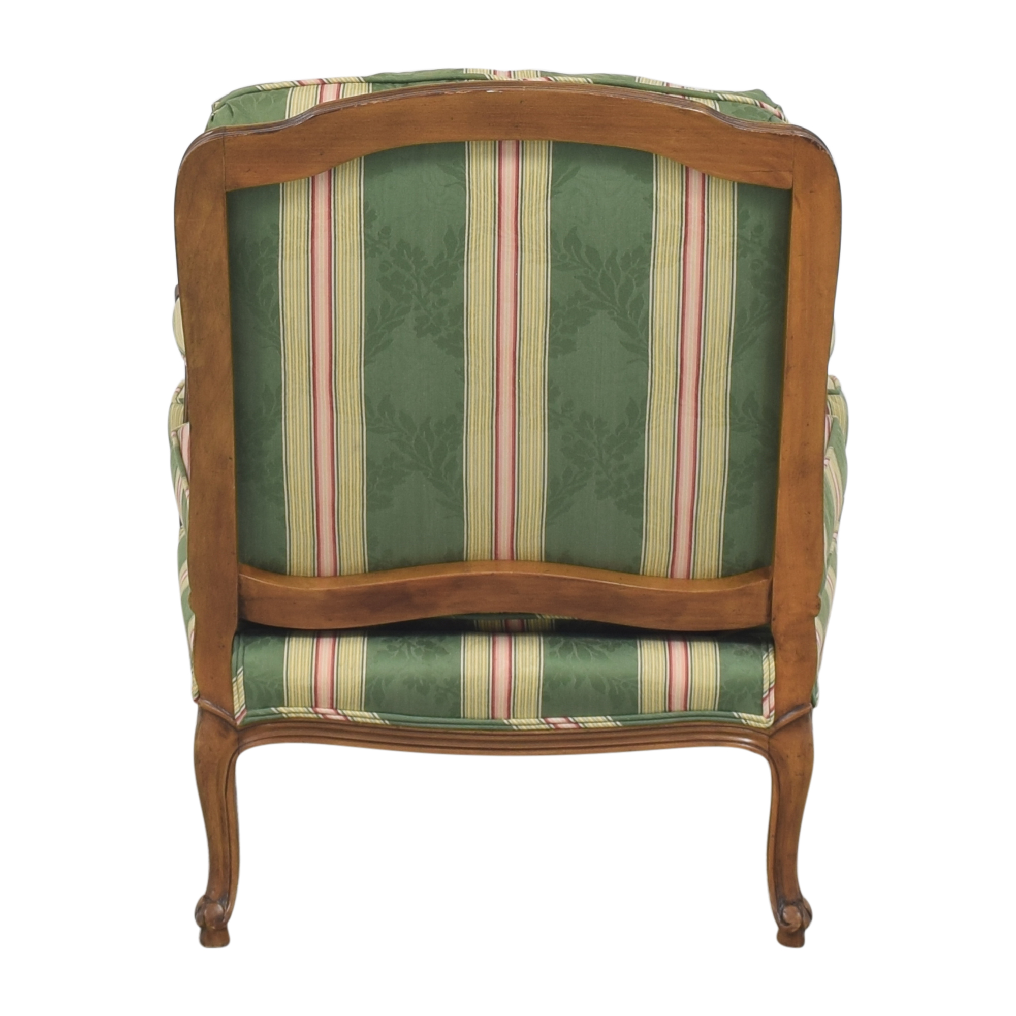 Baker Furniture Baker Furniture Stripe Damask Accent Chair second hand