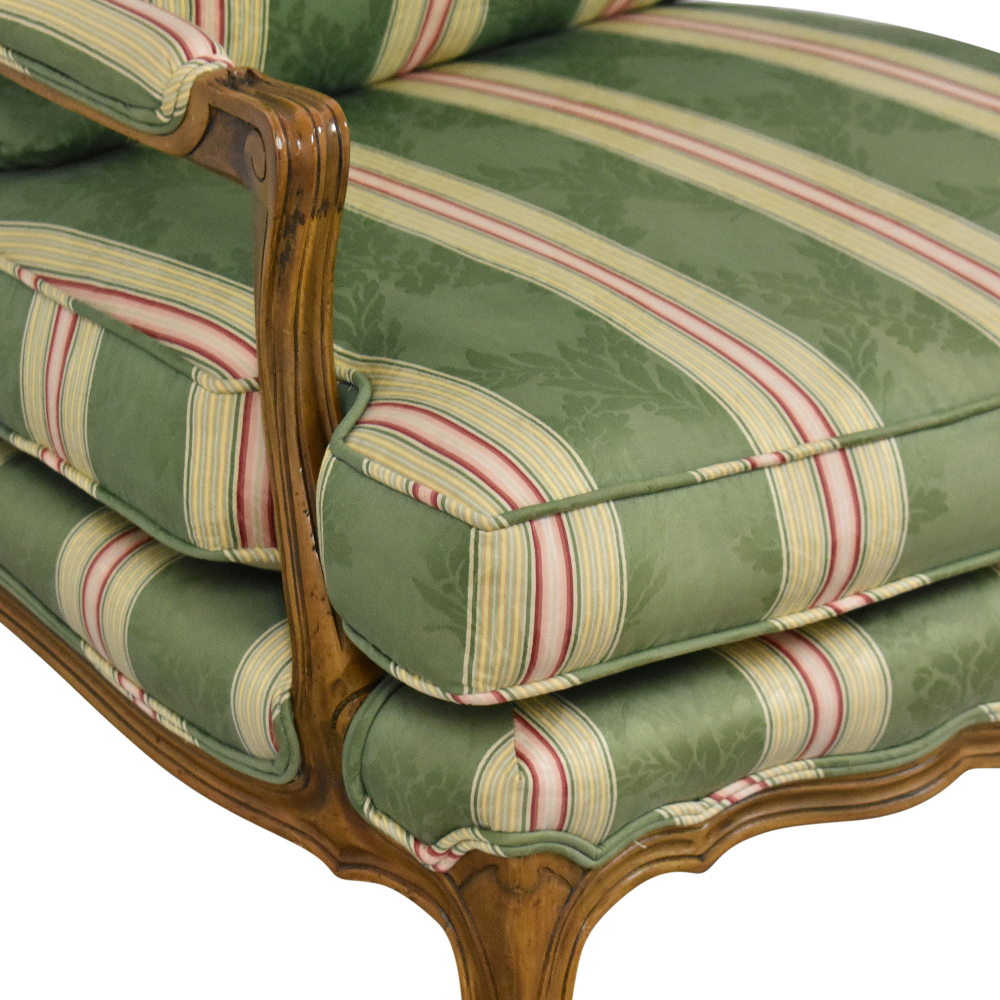 shop Baker Furniture Stripe Damask Accent Chair Baker Furniture