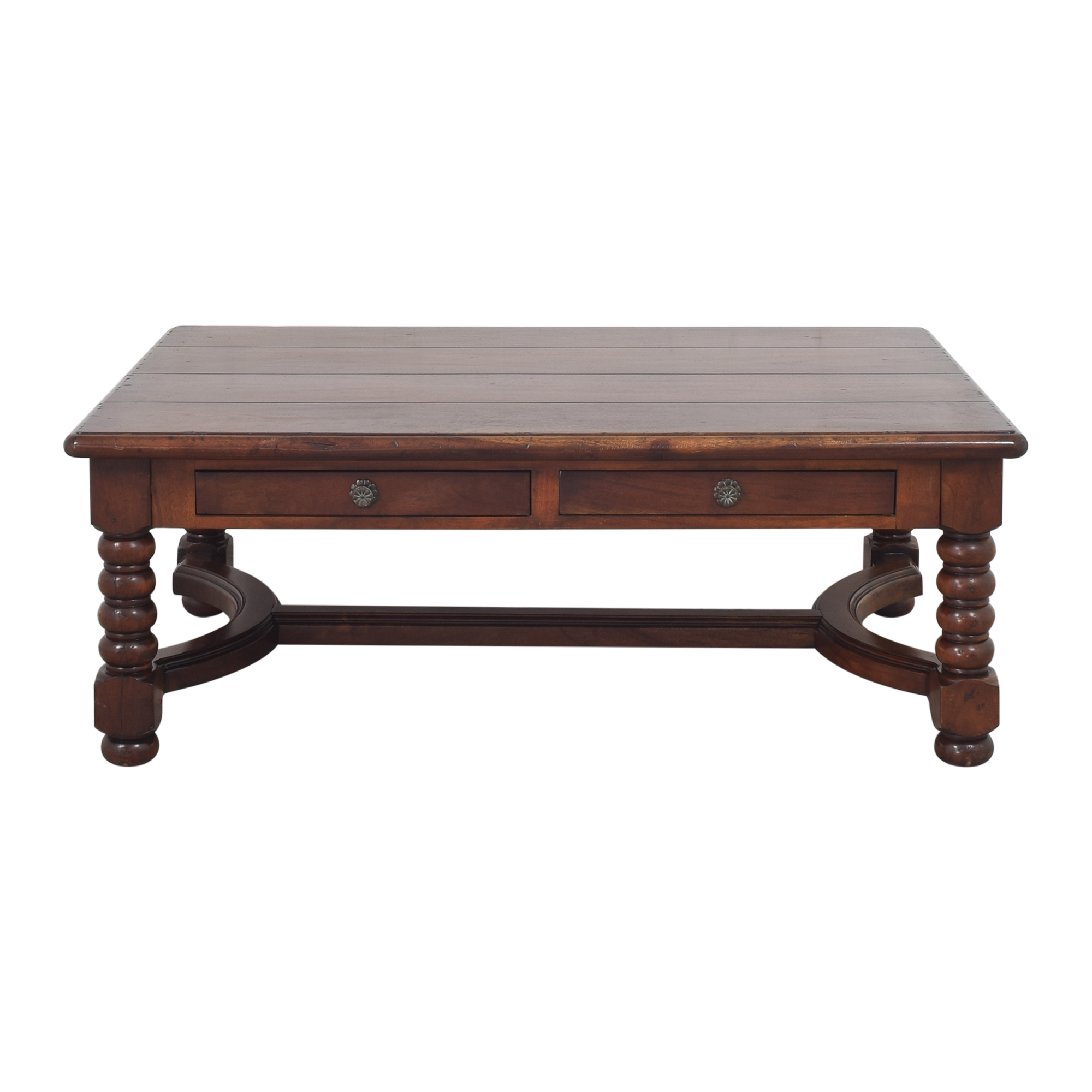 Four Drawer Storage Coffee Table dark brown