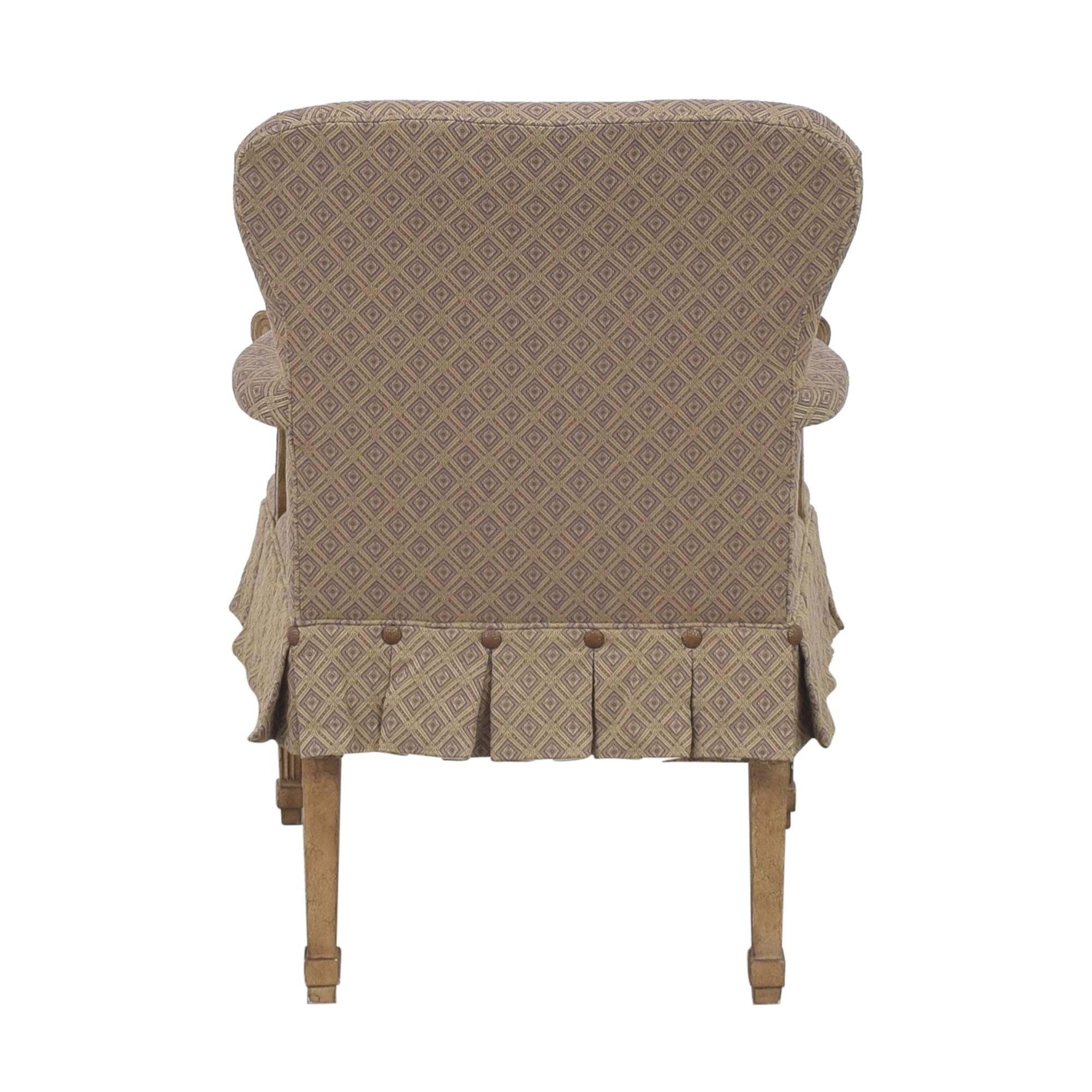 Kravet Kravet Pleated Accent Chair beige & brown