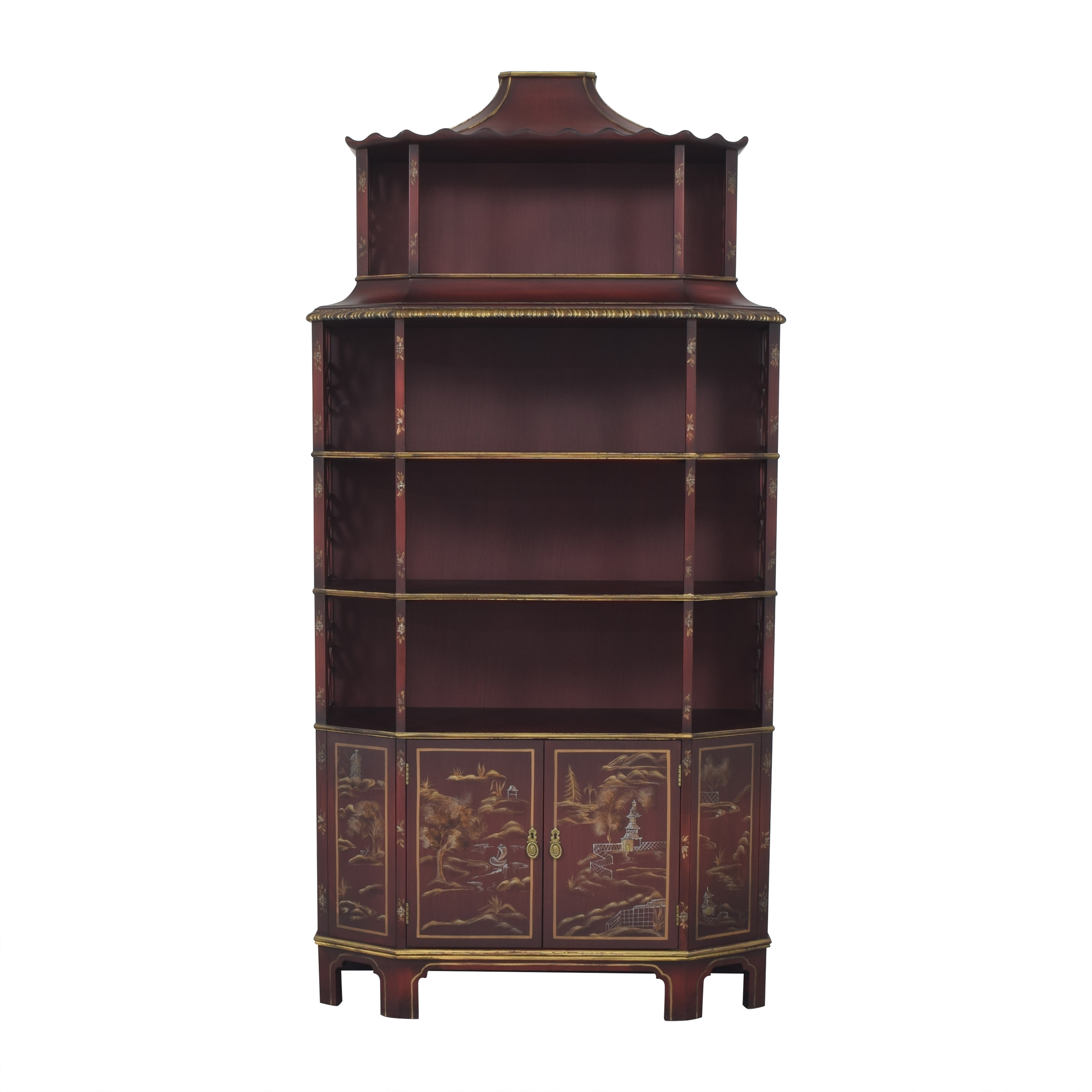 shop John Widdicomb Mario Buatta Collection Chinoiserie Bookcase John Widdicomb Co. Bookcases & Shelving
