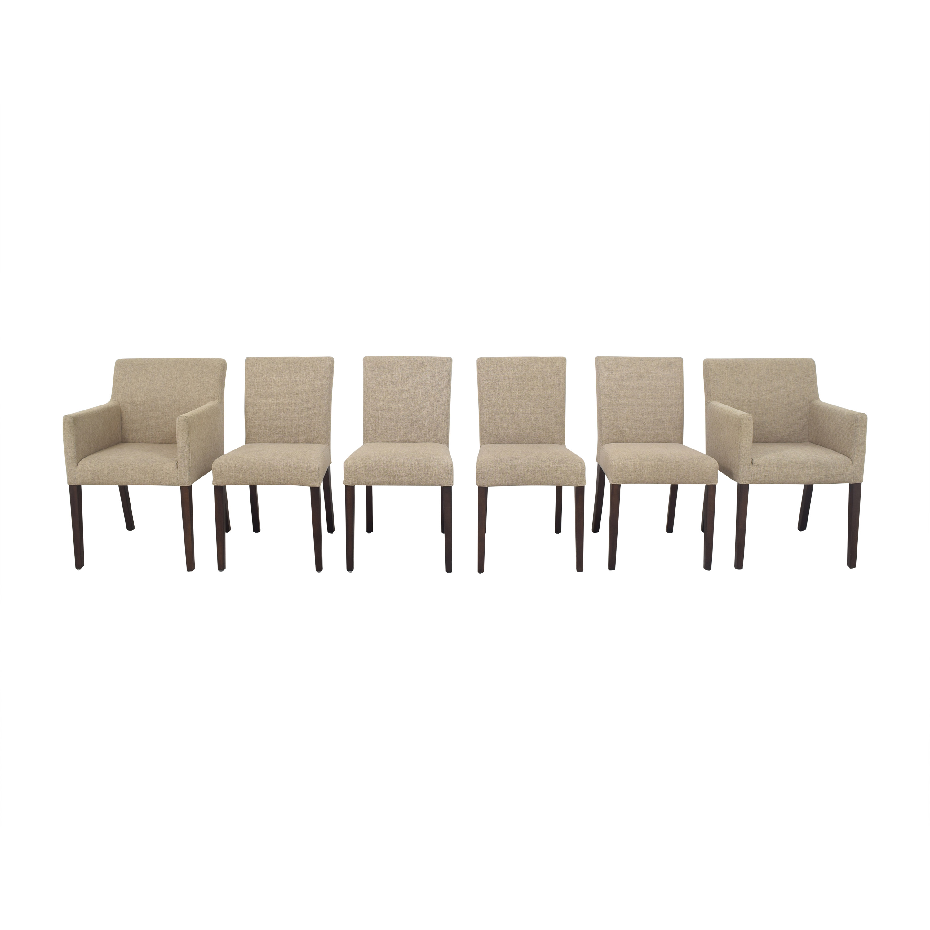 Crate & Barrel Crate & Barrel Lowe Upholstered Dining Chairs nj