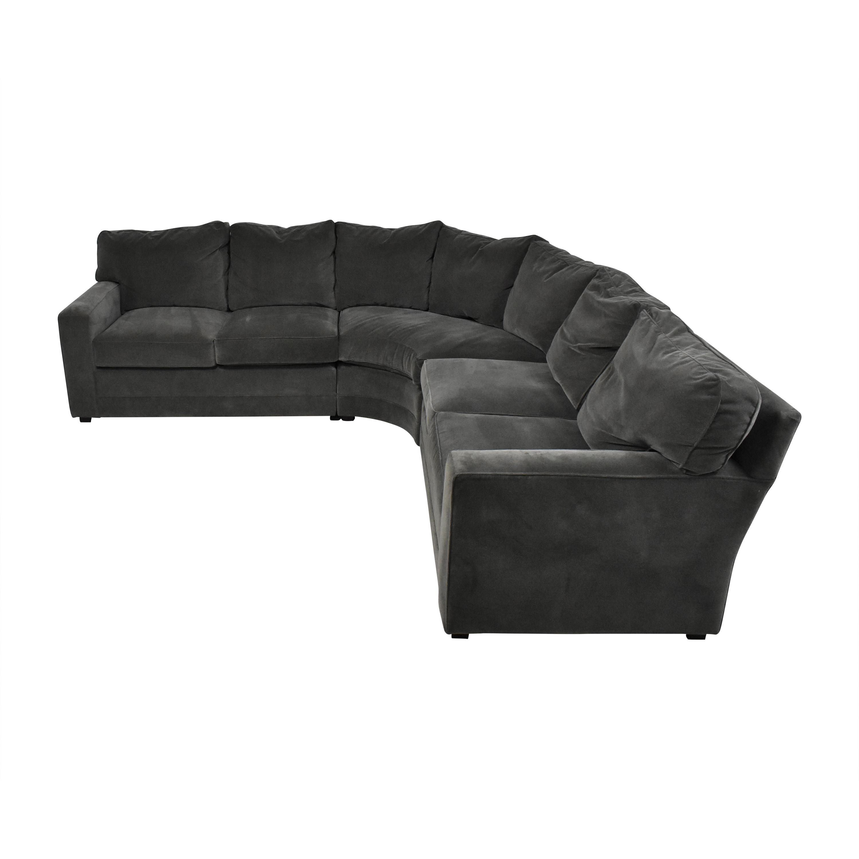 Henredon Furniture Henredon Furniture Corner Sectional Sofa grey