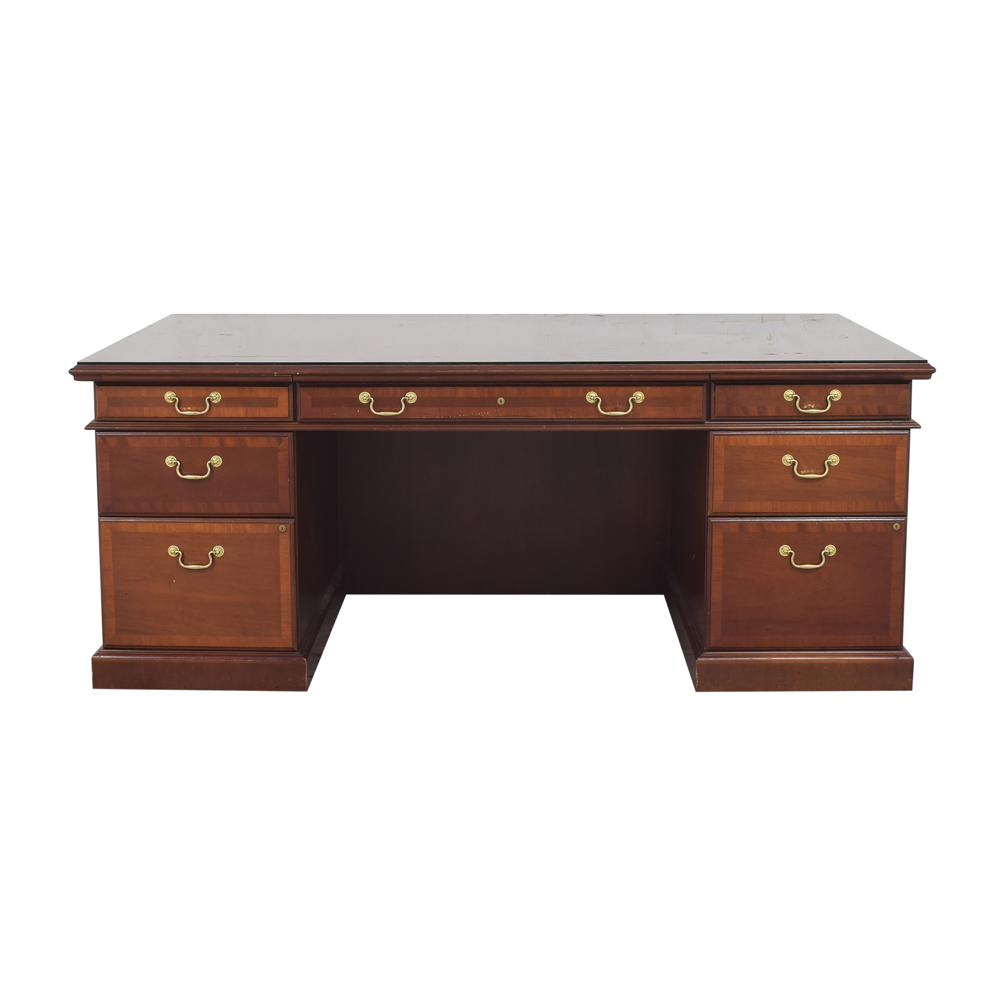 buy Bernhardt Executive Double Pedestal Desk Bernhardt Tables